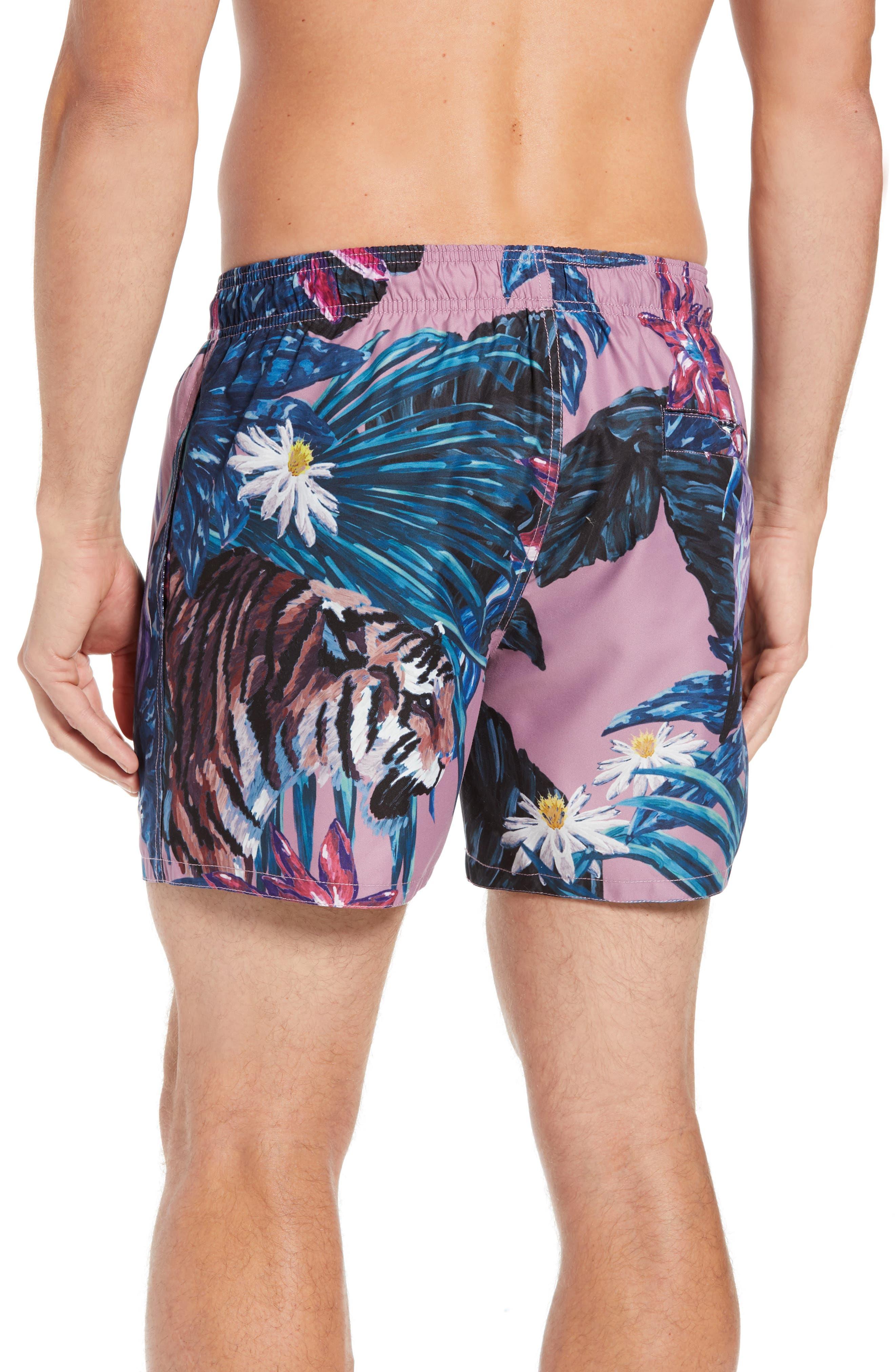 Nemo Tiger Print Swim Shorts,                             Alternate thumbnail 2, color,                             660