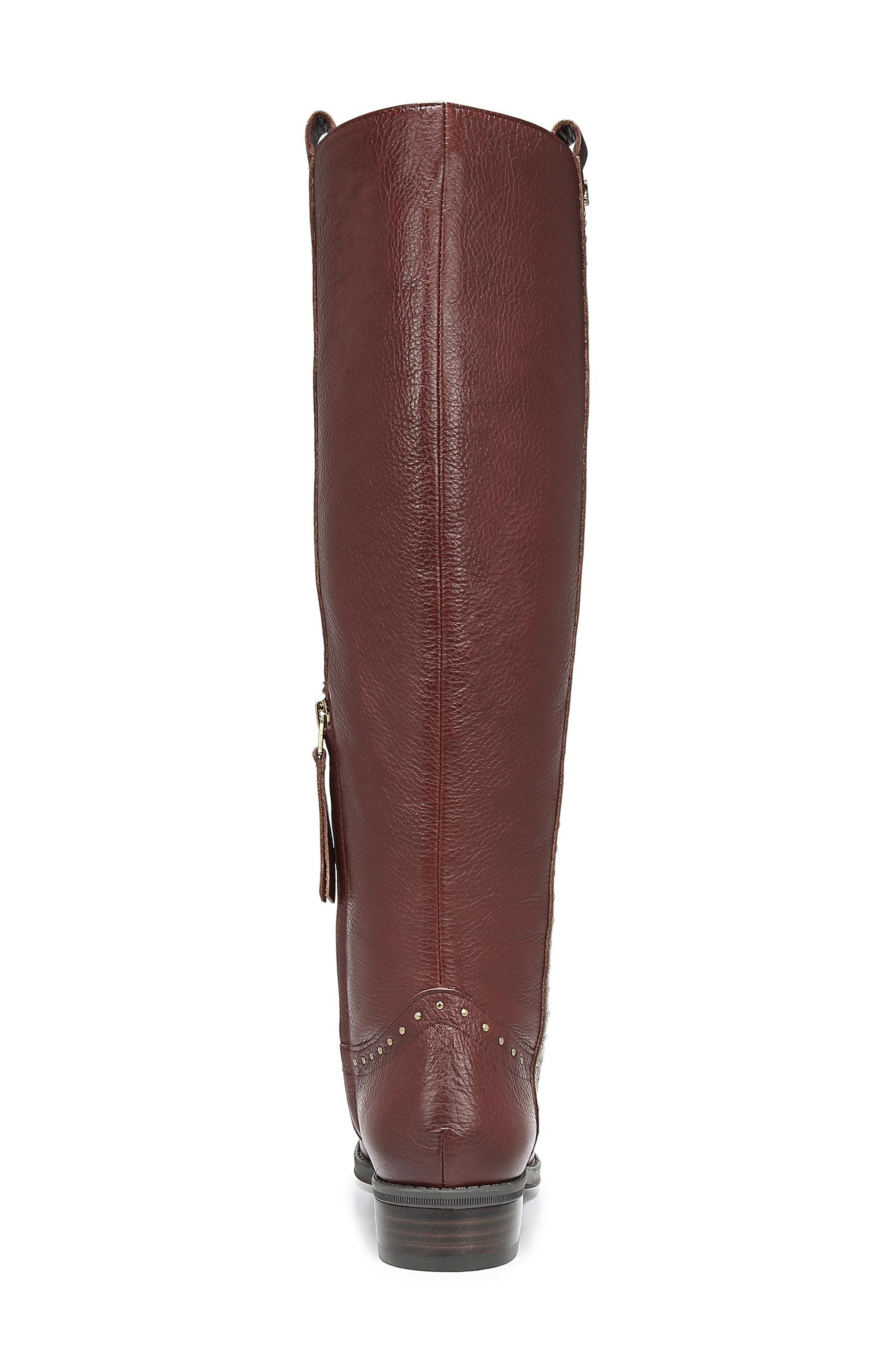 Prina Riding Boot,                             Alternate thumbnail 7, color,                             REDWOOD BROWN LEATHER