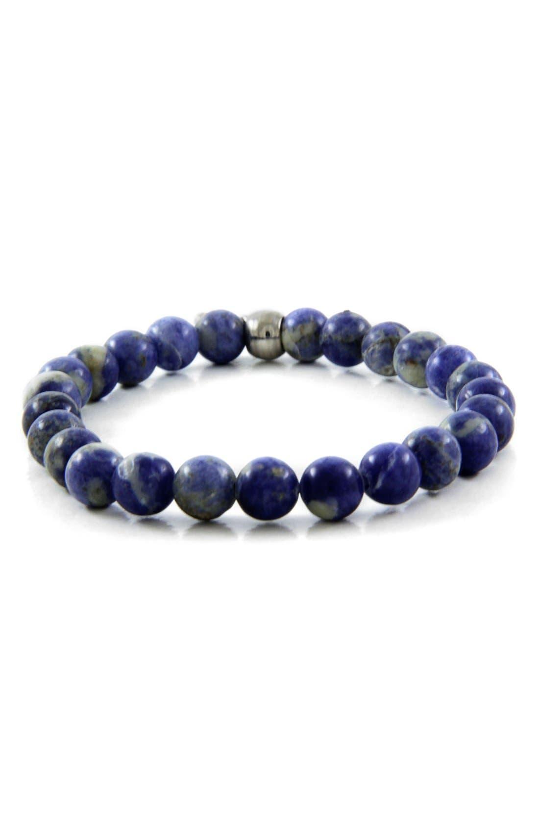 Sodalite Bead Bracelet,                         Main,                         color, 400