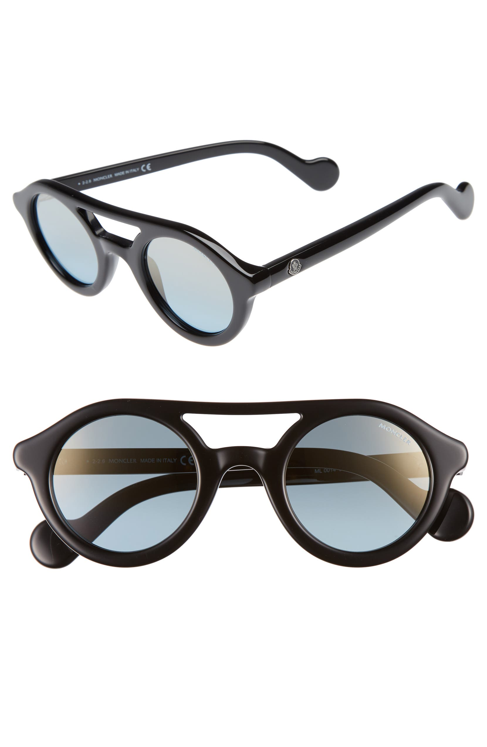dc954b36c70 Moncler 47mm Rounded Sunglasses