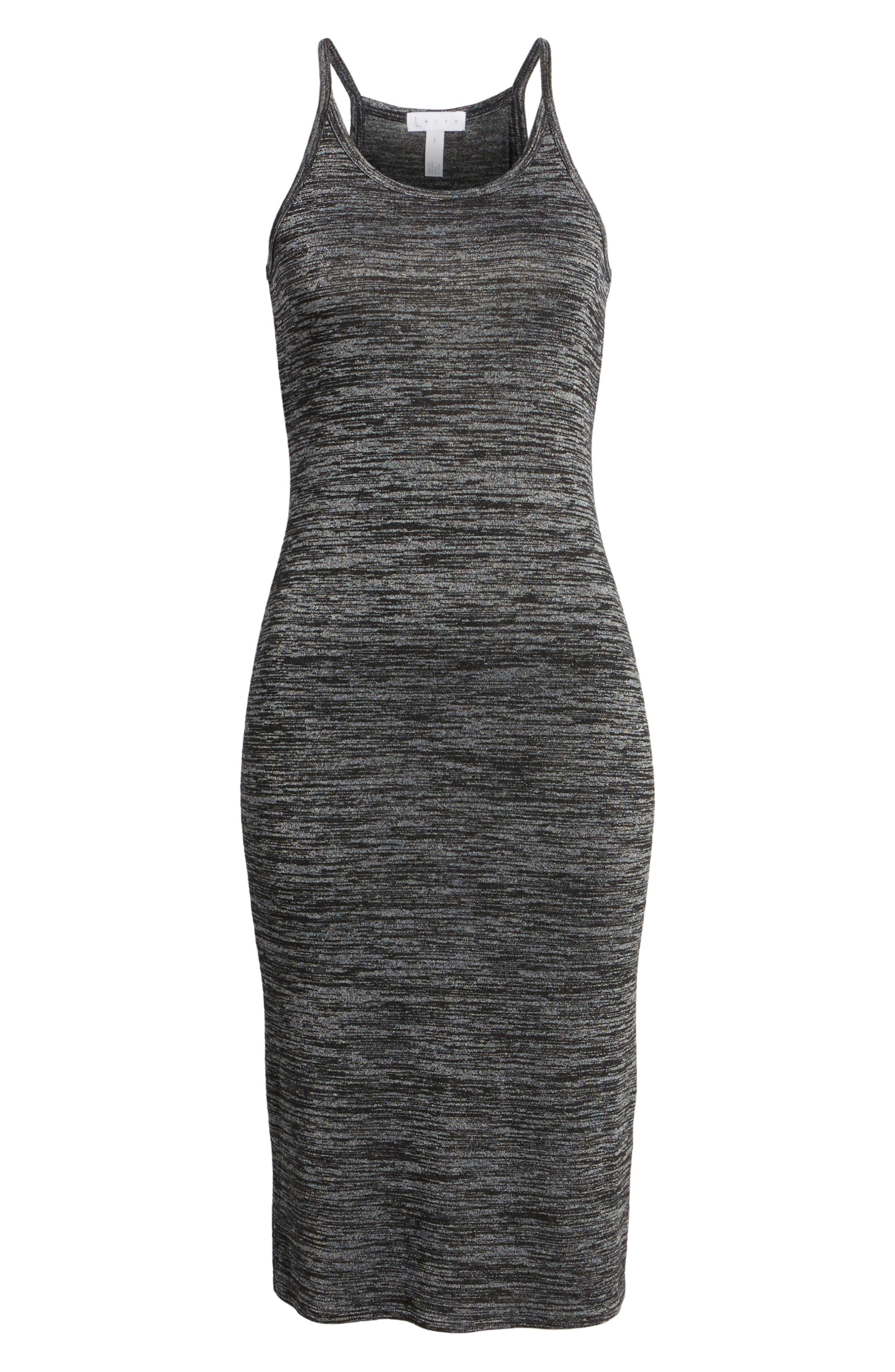 Mélange Body-Con Dress,                             Alternate thumbnail 6, color,                             021