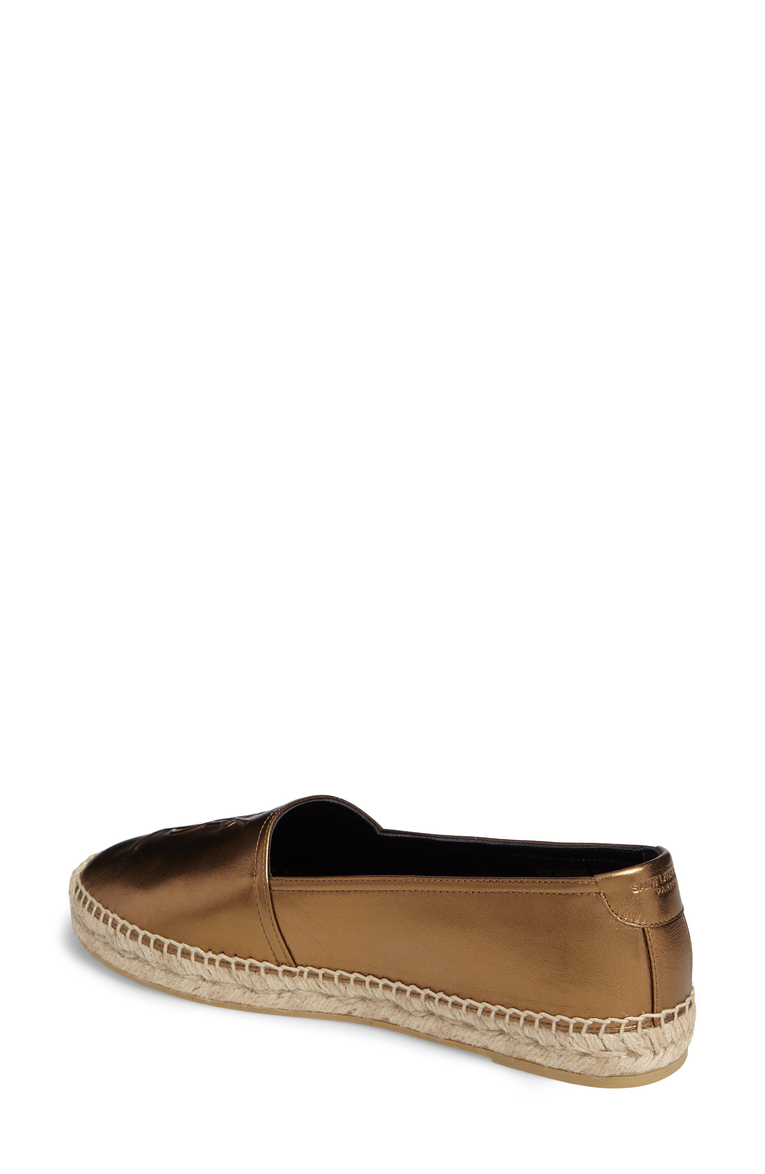 Metallic Logo Espadrille,                             Alternate thumbnail 2, color,                             METALLIC GOLD