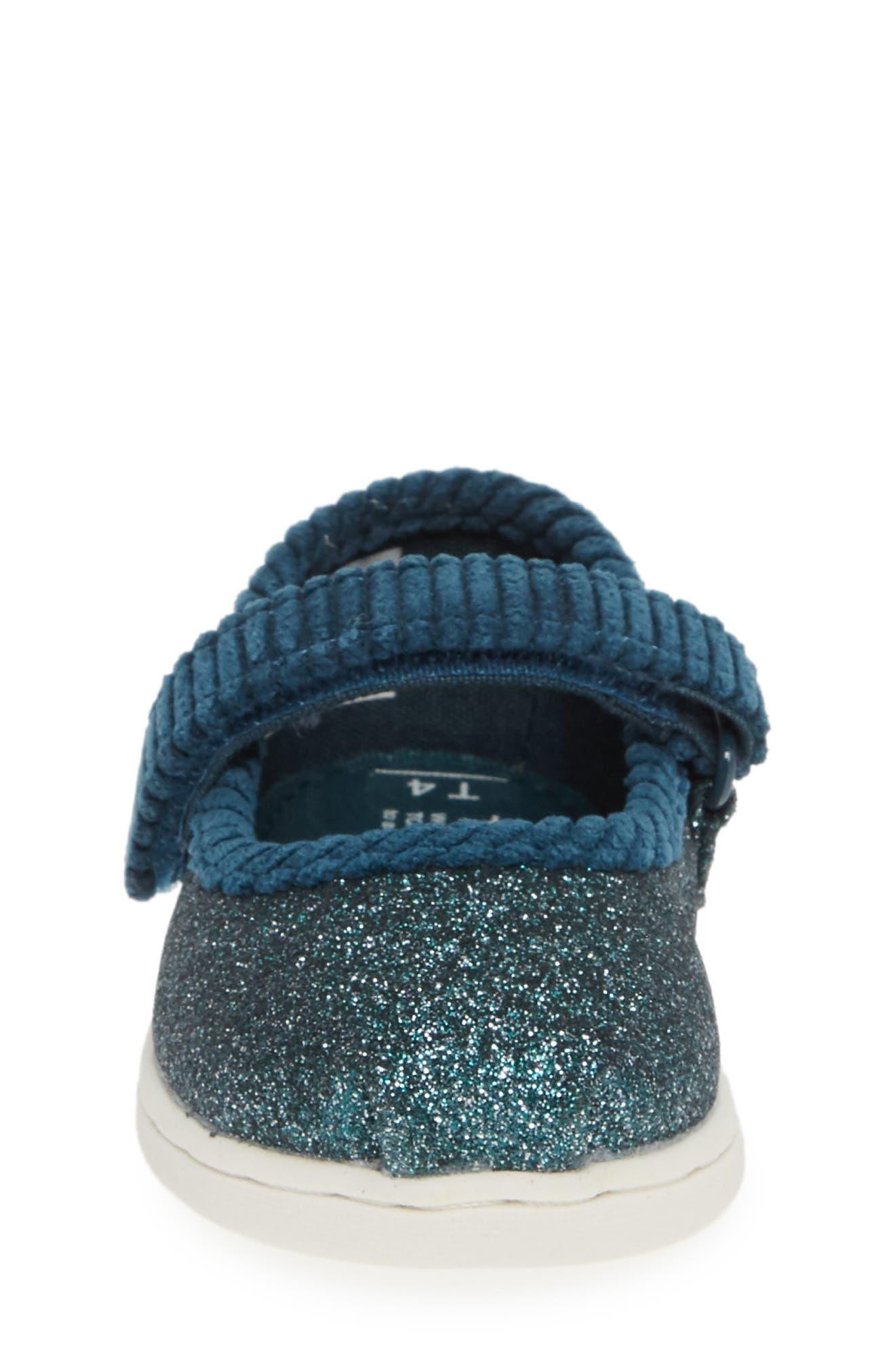 Mary Jane Sneaker,                             Alternate thumbnail 4, color,                             ATLANTIC IRIDESCENT/ CORDUROY