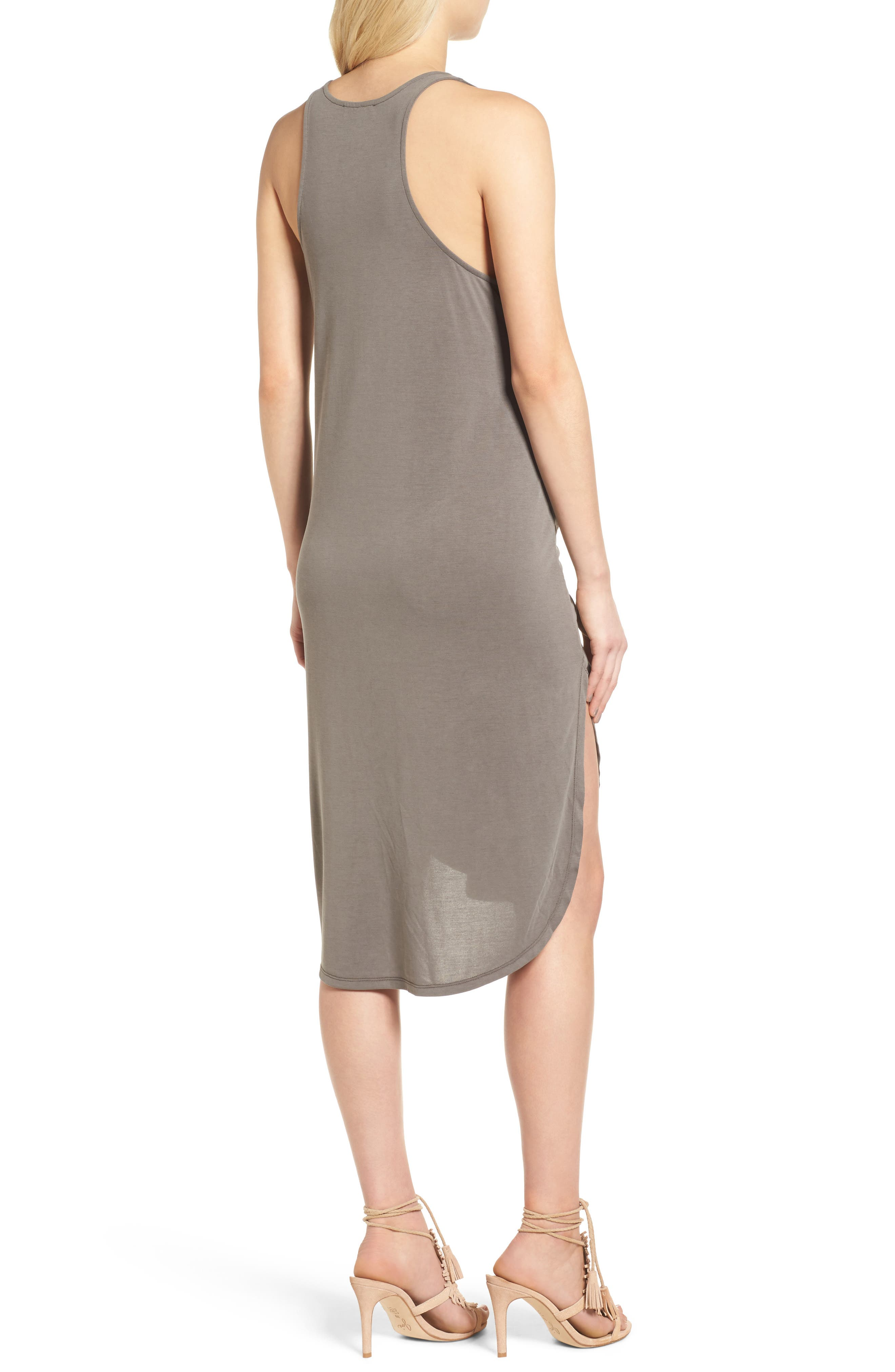 TROUVÉ,                             Tie Front Knit Dress,                             Alternate thumbnail 2, color,                             030