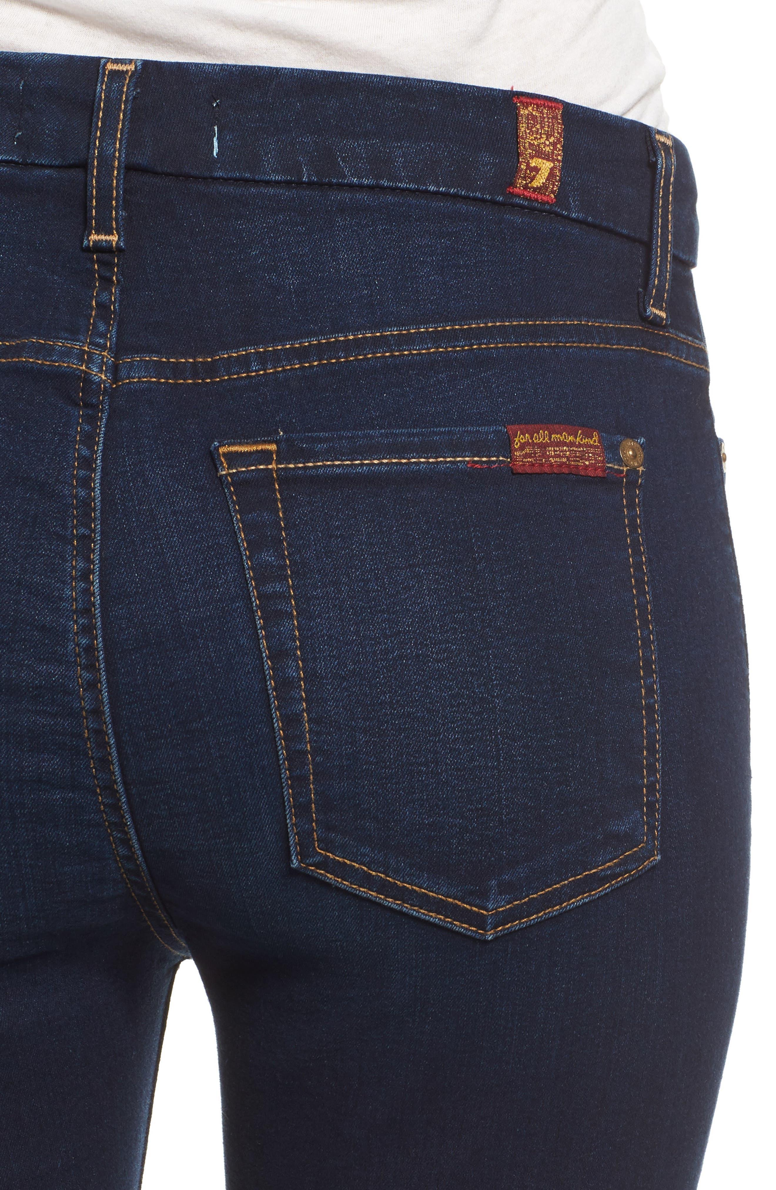 b(air) High Waist Skinny Jeans,                             Alternate thumbnail 4, color,                             400