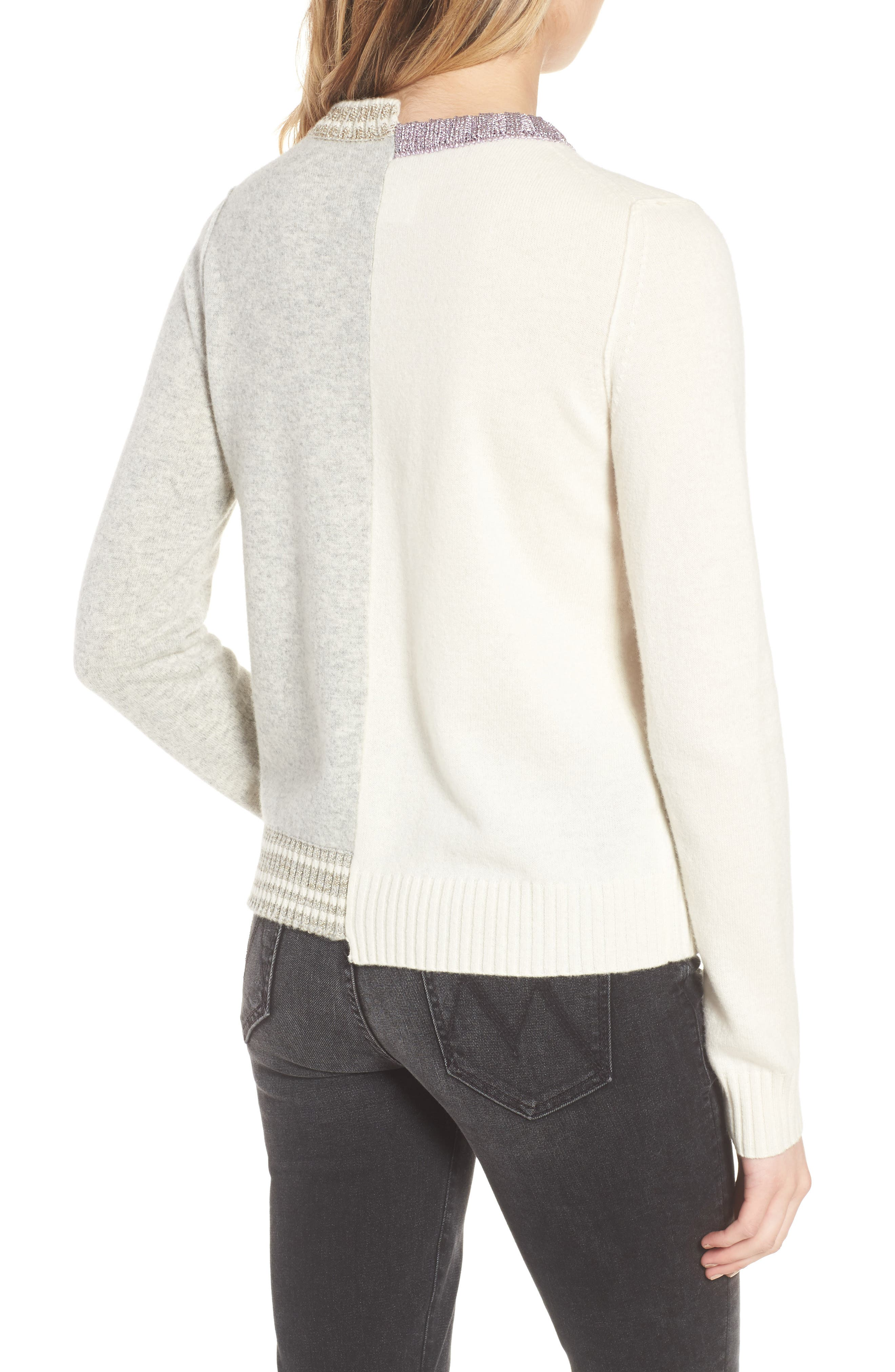 Source Two-Tone Wool & Cashmere Sweater,                             Alternate thumbnail 2, color,                             060