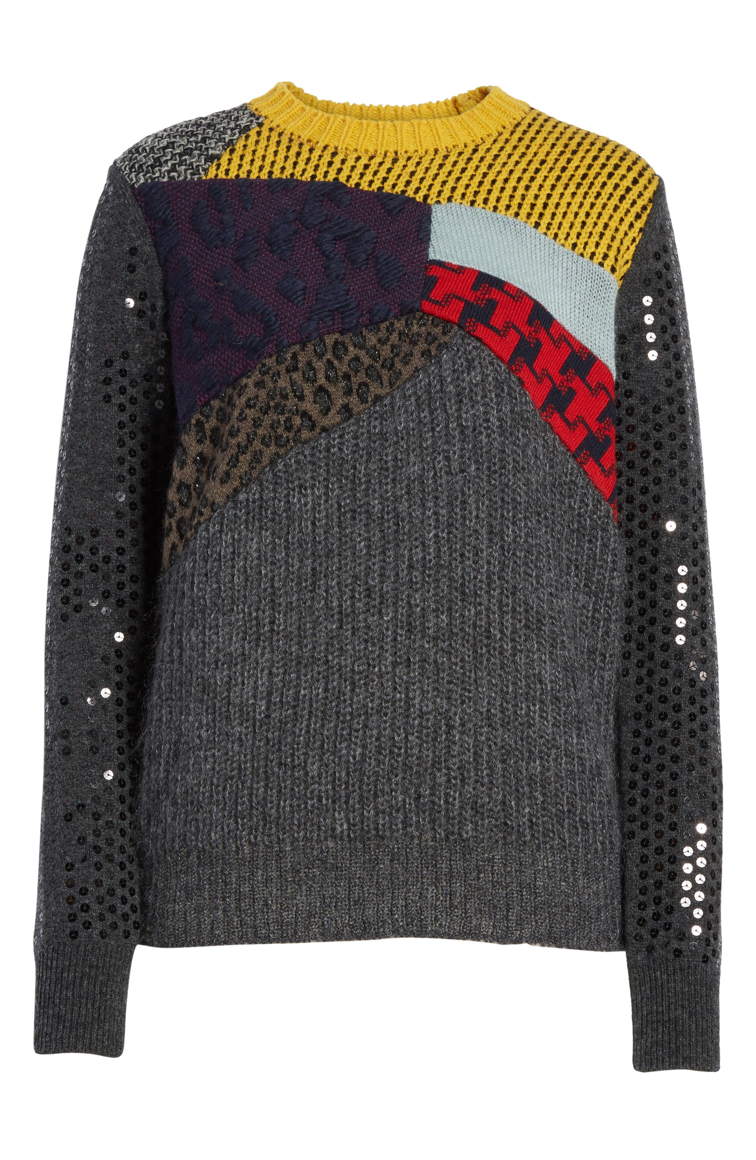 Mixed Media Sweater,                             Alternate thumbnail 6, color,                             060