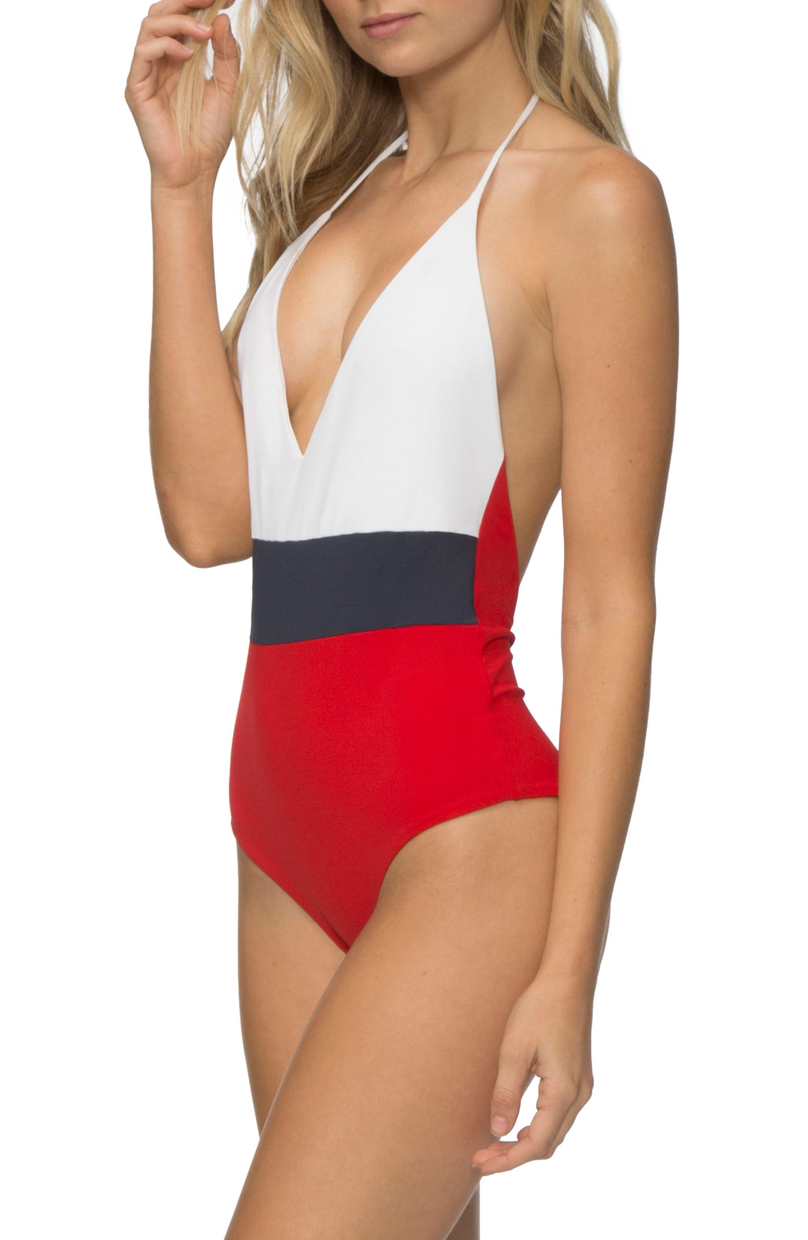 Chase One-Piece Swimsuit,                             Alternate thumbnail 3, color,                             119