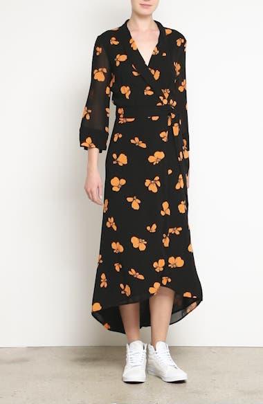 Fairfax Georgette Wrap Dress, video thumbnail