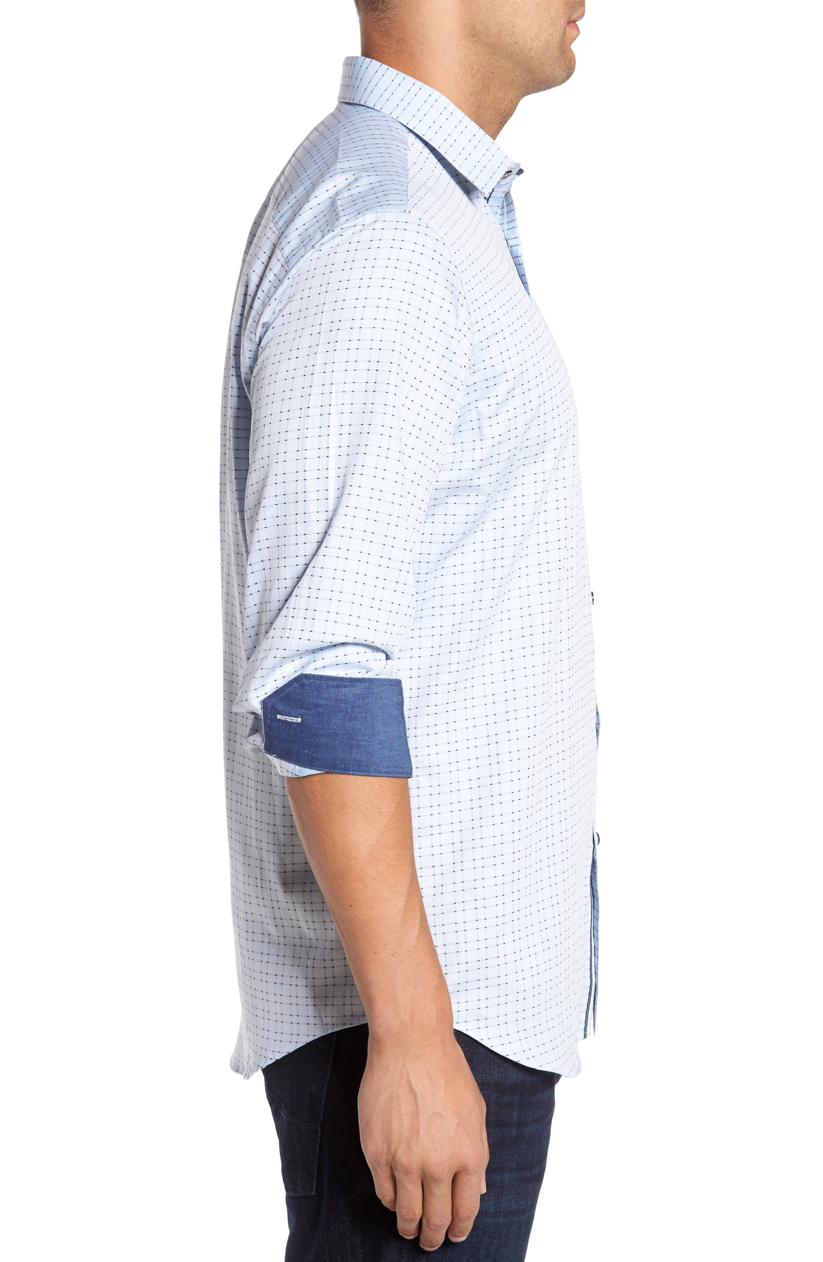 Classic Fit Check Sport Shirt,                             Alternate thumbnail 3, color,                             459