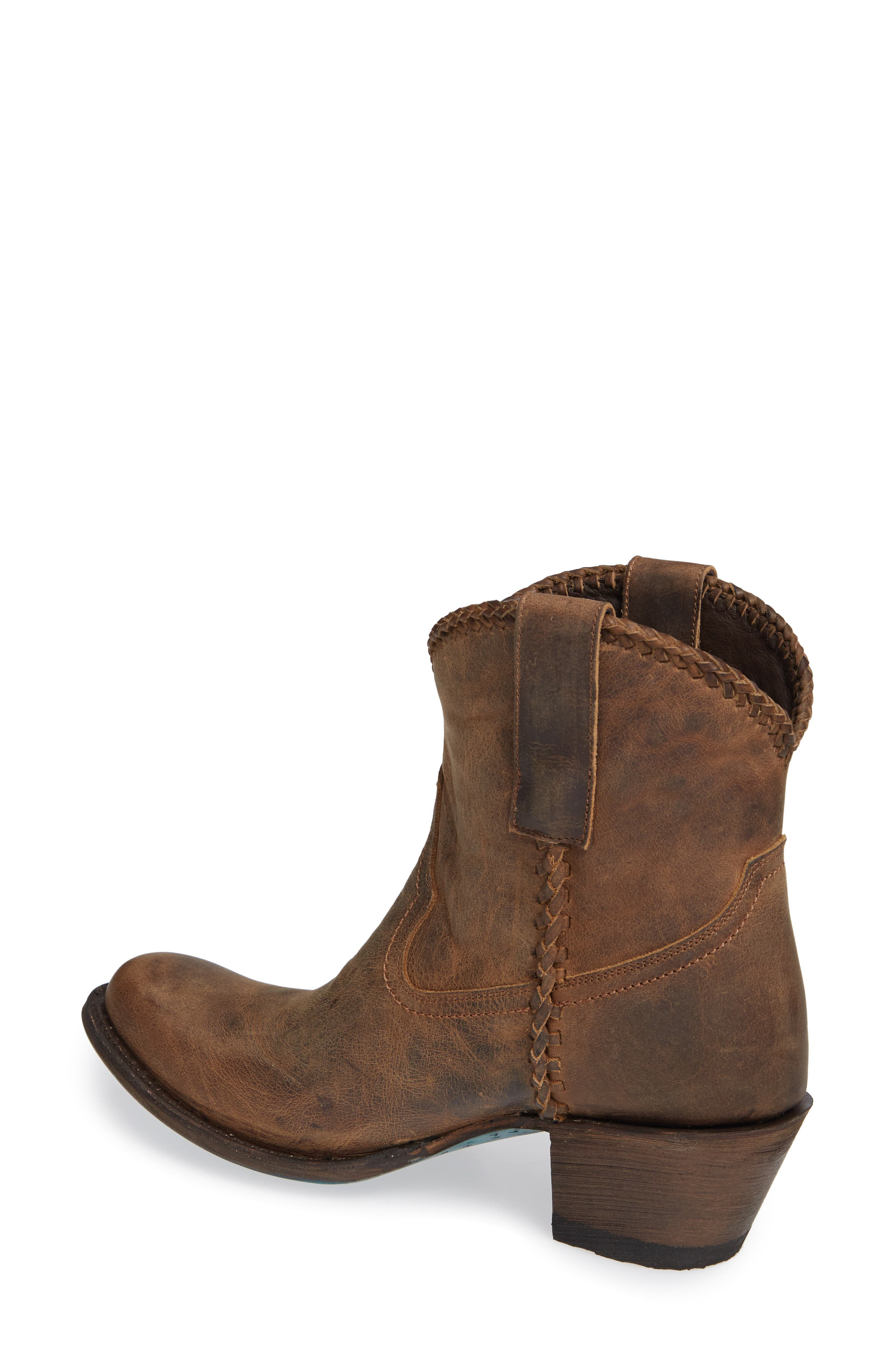 Plain Jane Western Boot,                             Alternate thumbnail 2, color,                             BROWN LEATHER