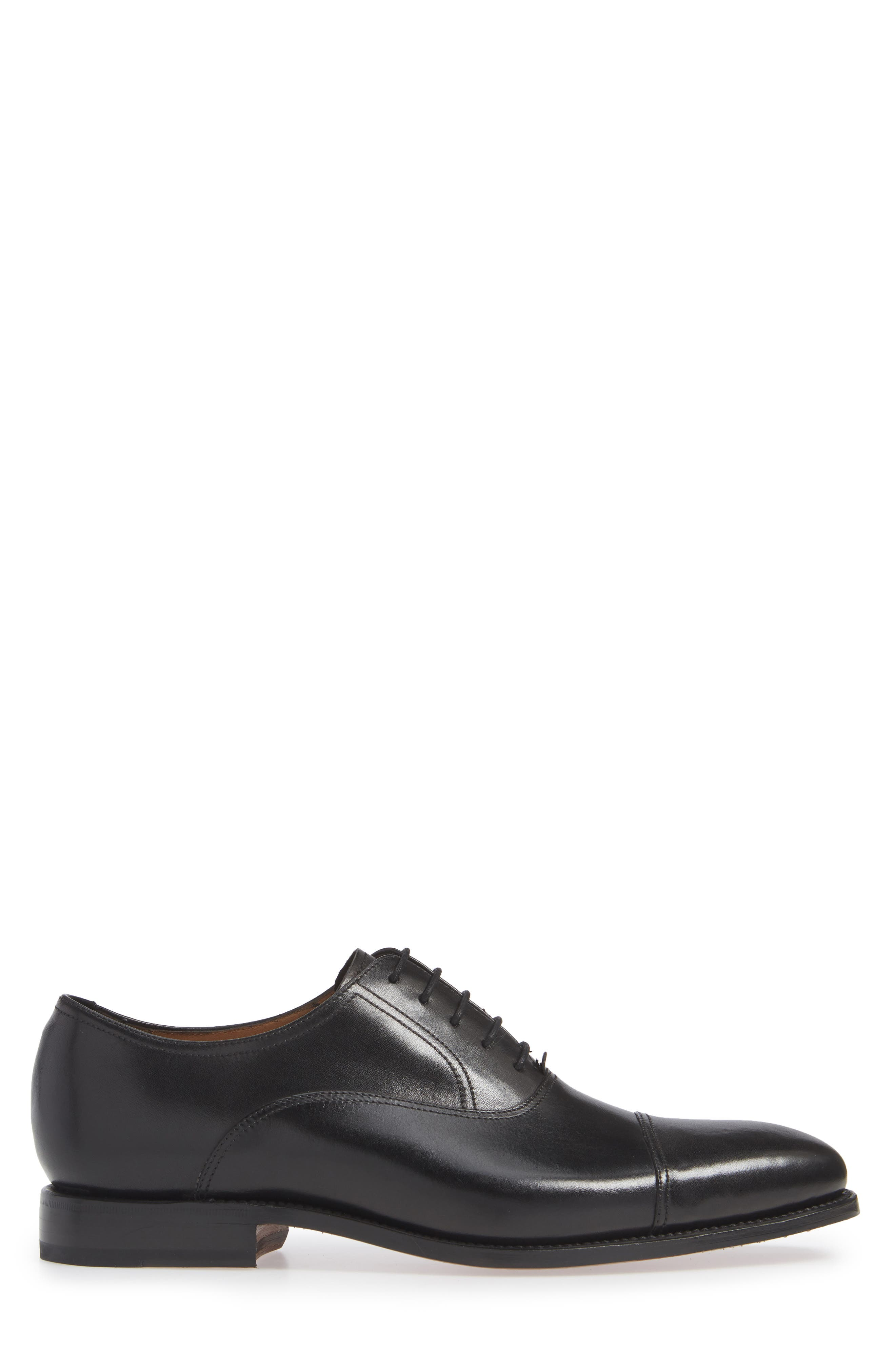 Tiburon Cap Toe Oxford,                             Alternate thumbnail 3, color,                             BLACK LEATHER