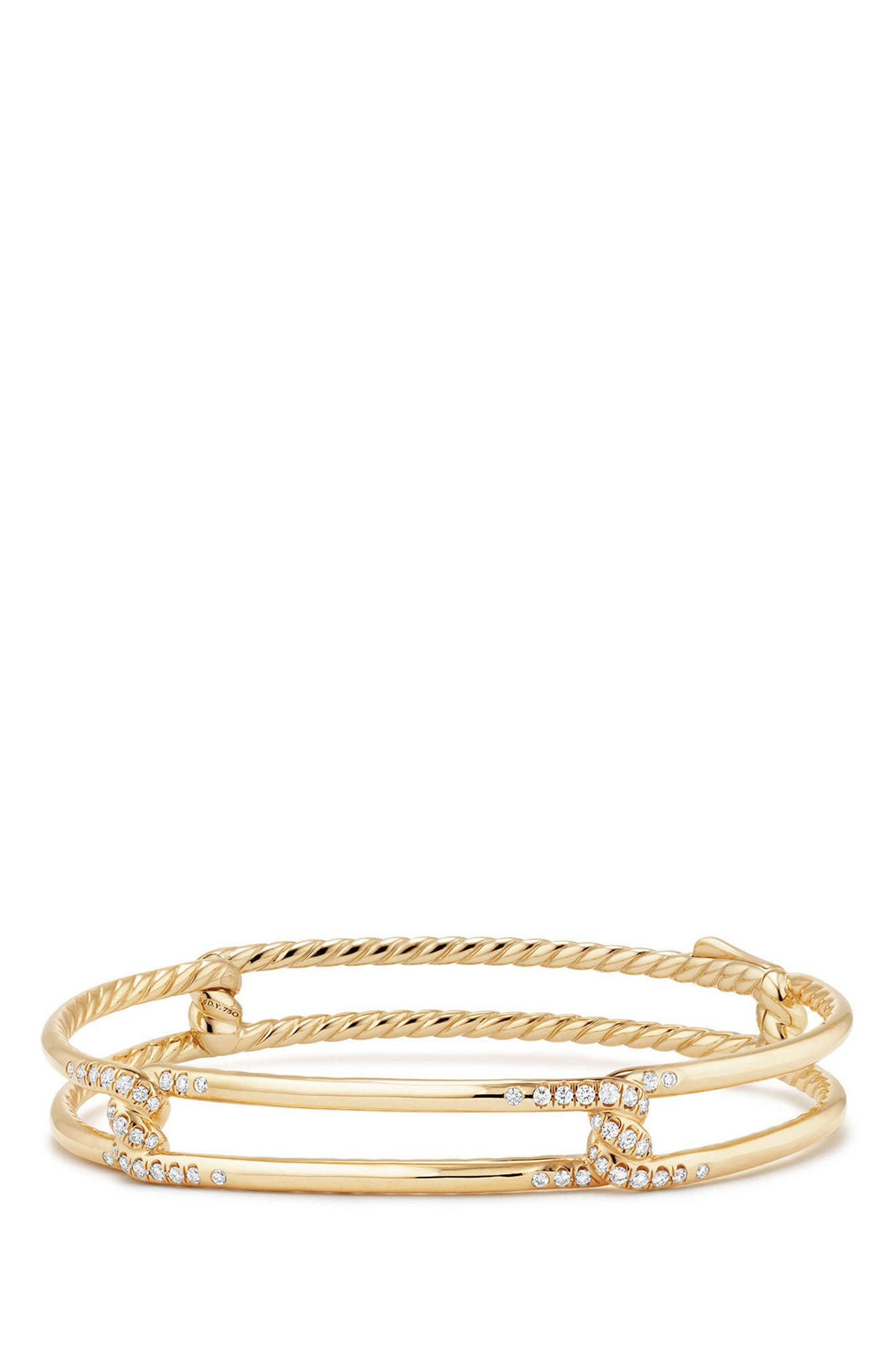 Continuance Bracelet with Diamond in 18K Gold,                             Main thumbnail 1, color,                             YELLOW GOLD