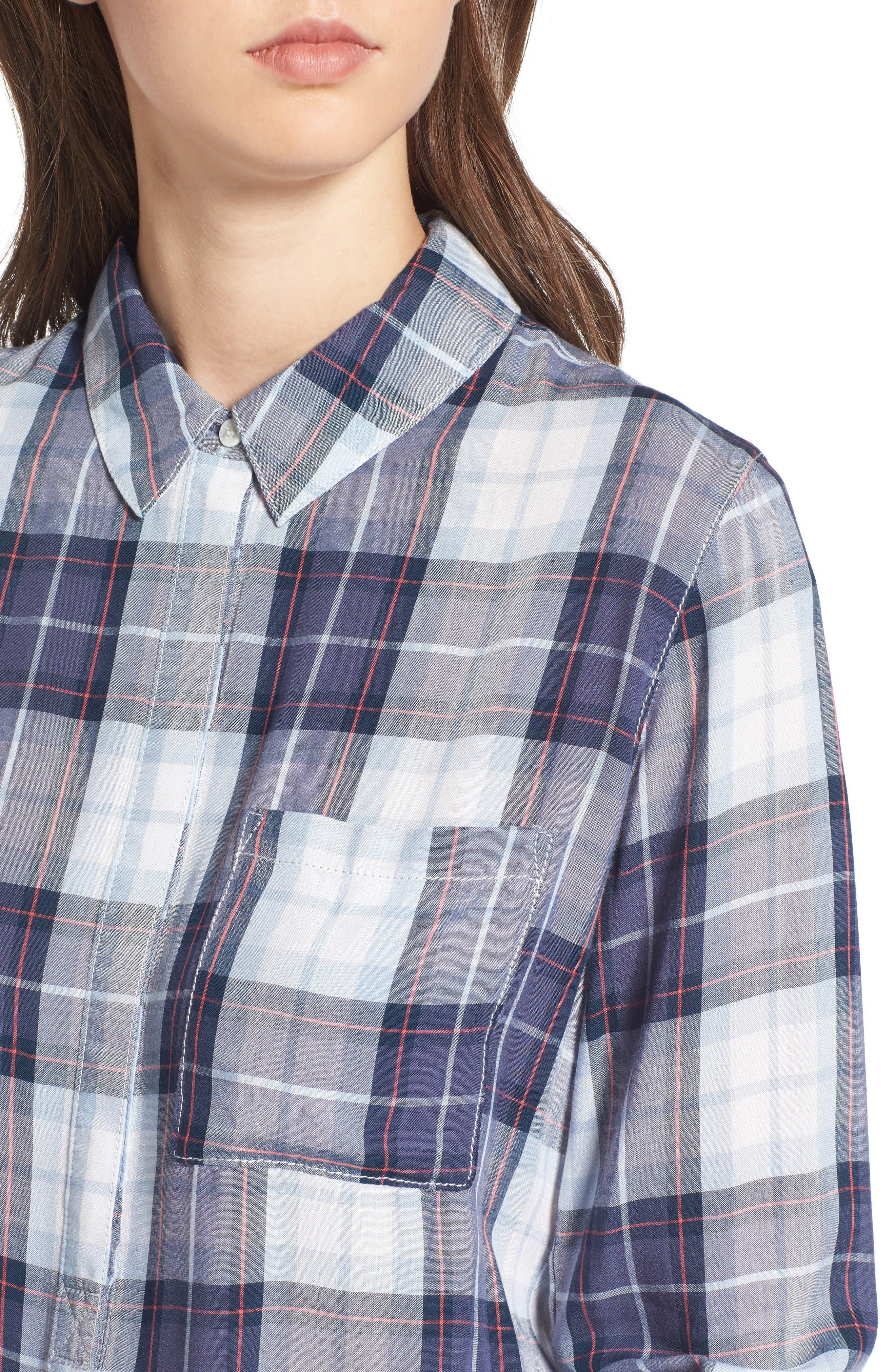 Classic Plaid Shirt,                             Alternate thumbnail 4, color,                             400
