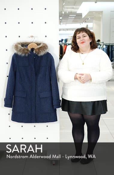 Portland Wool Duffle Coat with Genuine Fur Trim, sales video thumbnail