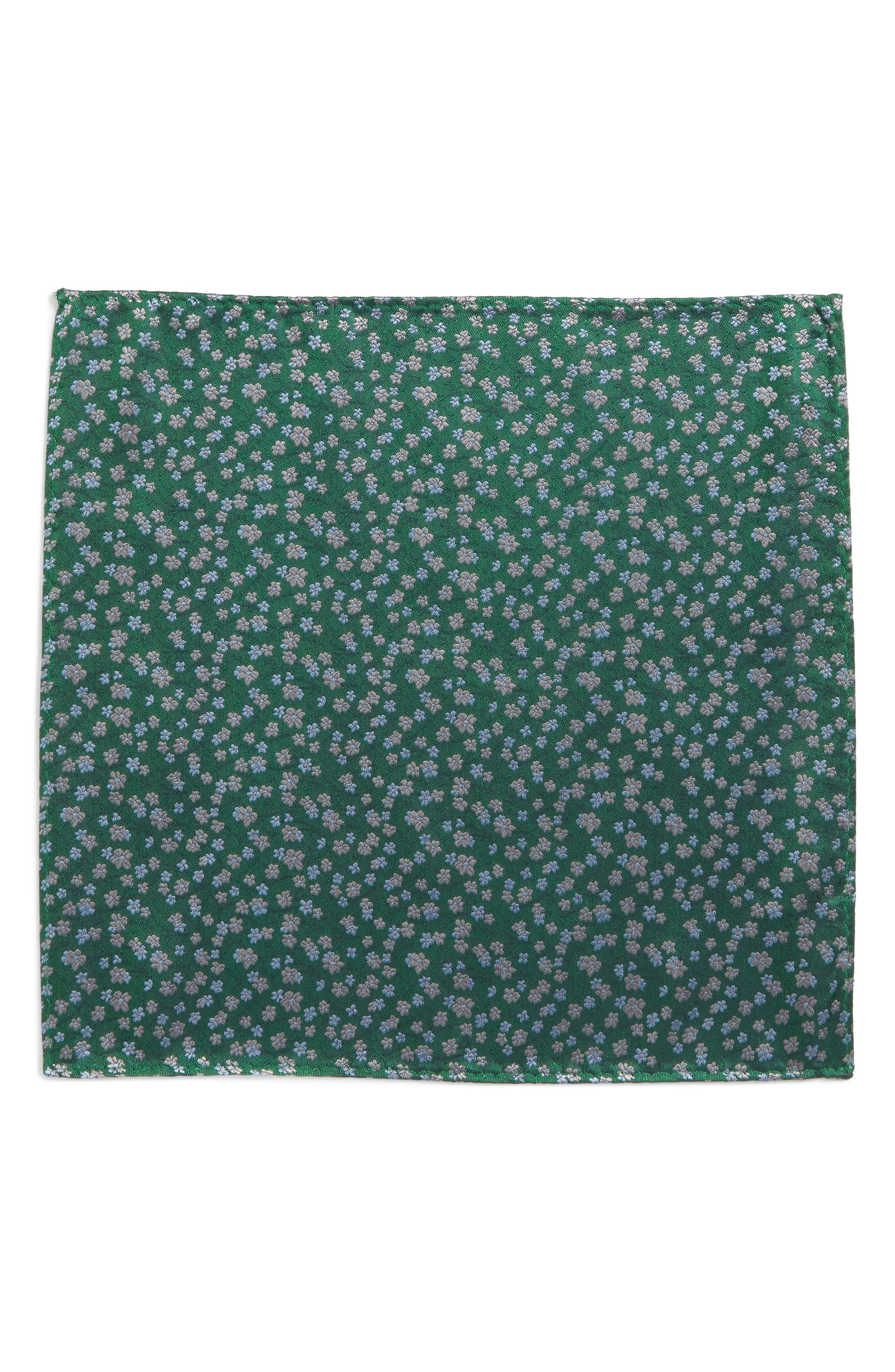 Free Fall Floral Silk Pocket Square,                             Alternate thumbnail 2, color,                             322