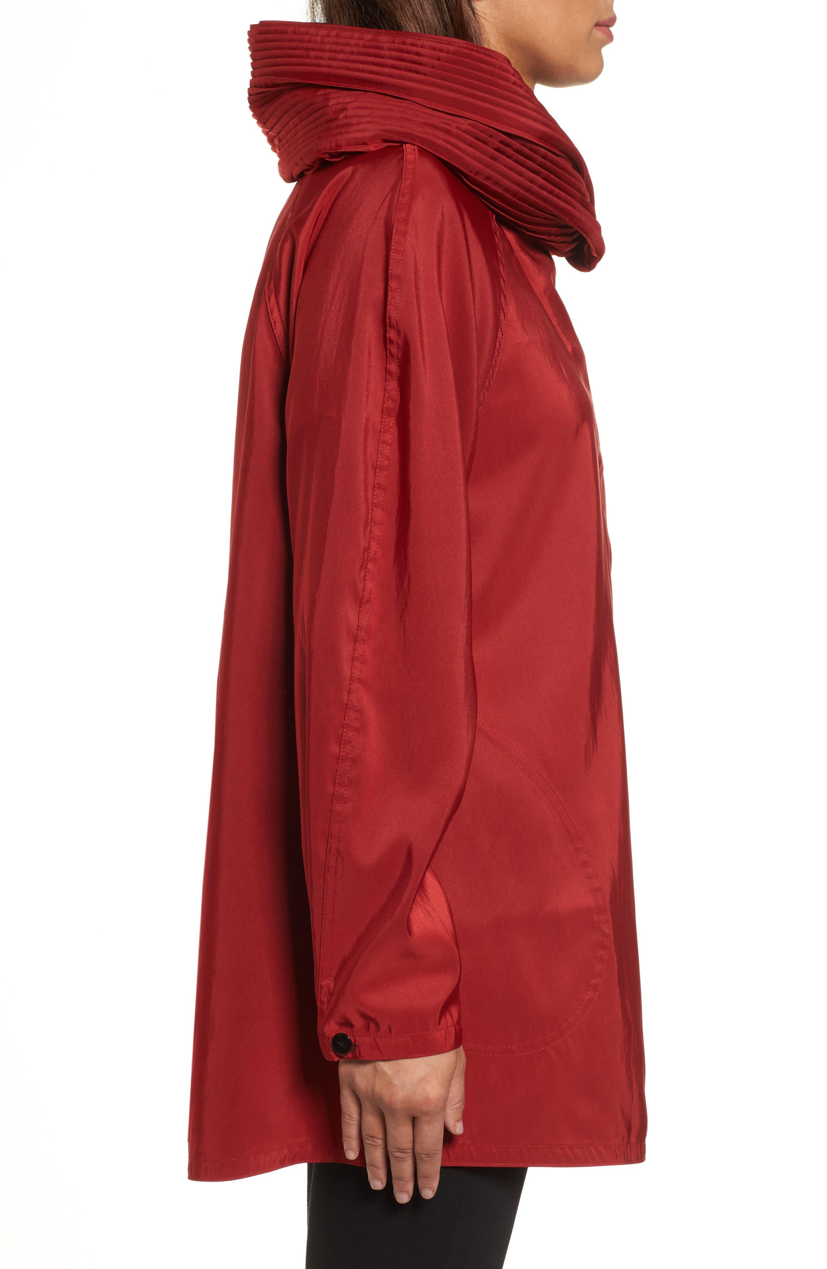 'Mini Donatella' Reversible Pleat Hood Packable Travel Coat,                             Alternate thumbnail 33, color,
