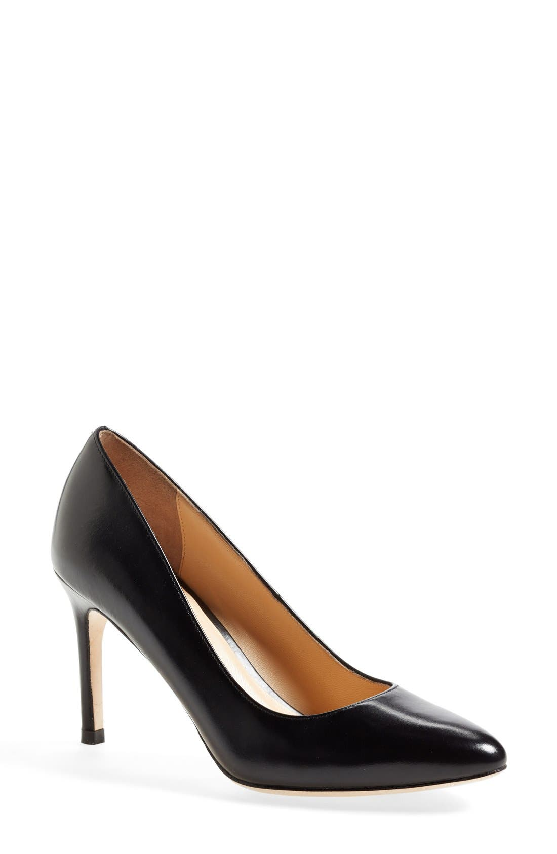 COLE HAAN,                             'Bethany' Leather Pump,                             Main thumbnail 1, color,                             001