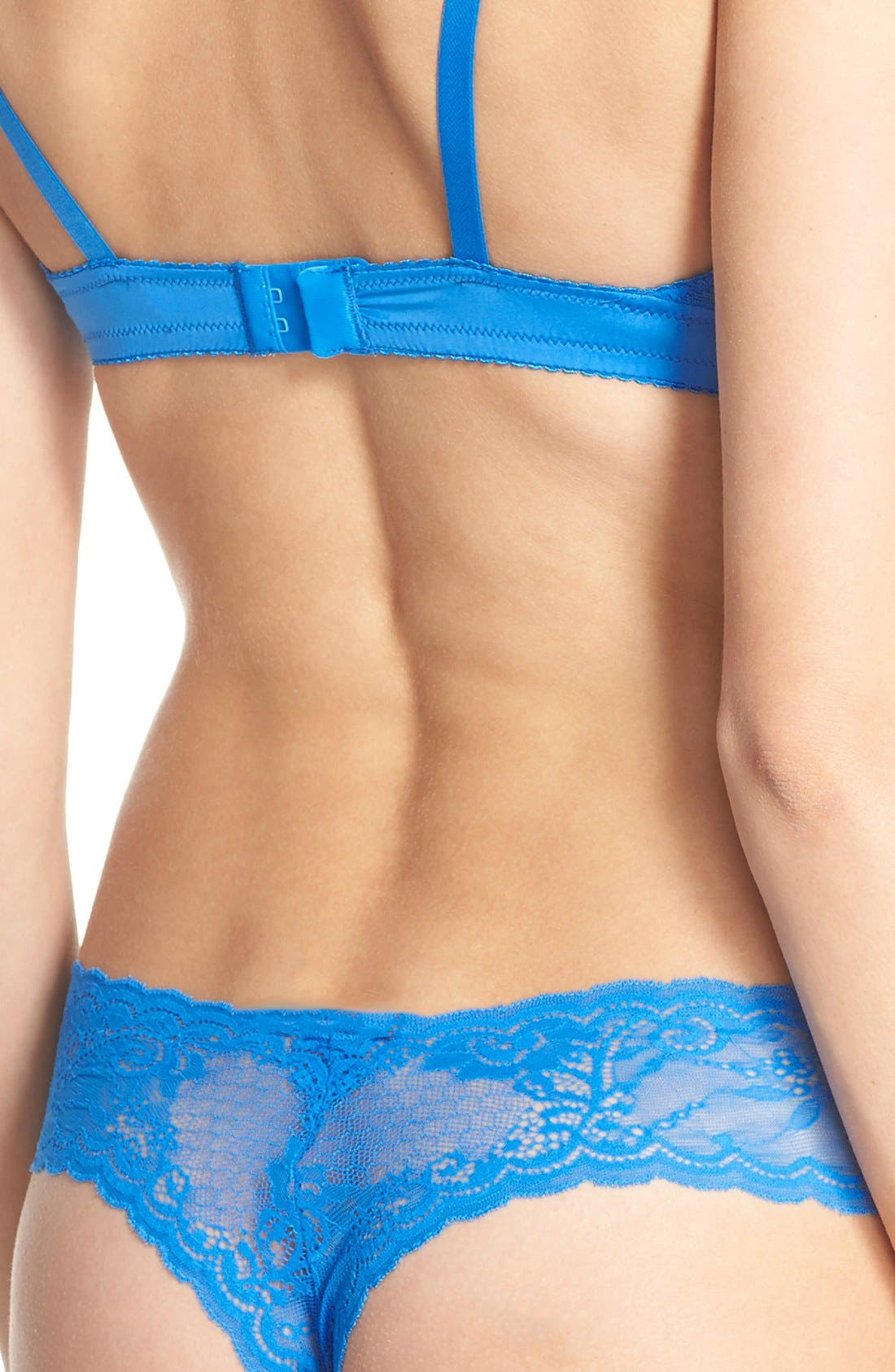 'Trenta' Low Rise Lace Thong,                             Alternate thumbnail 167, color,