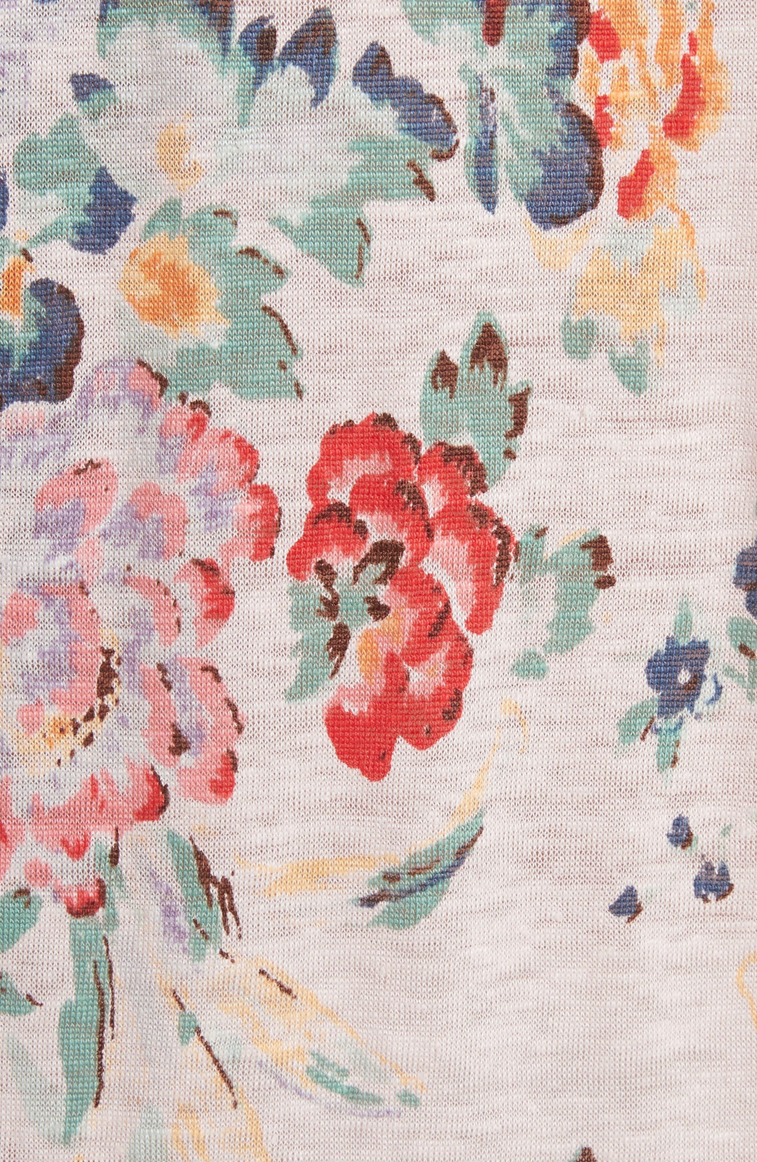 Marlena Floral Jersey Dress,                             Alternate thumbnail 5, color,