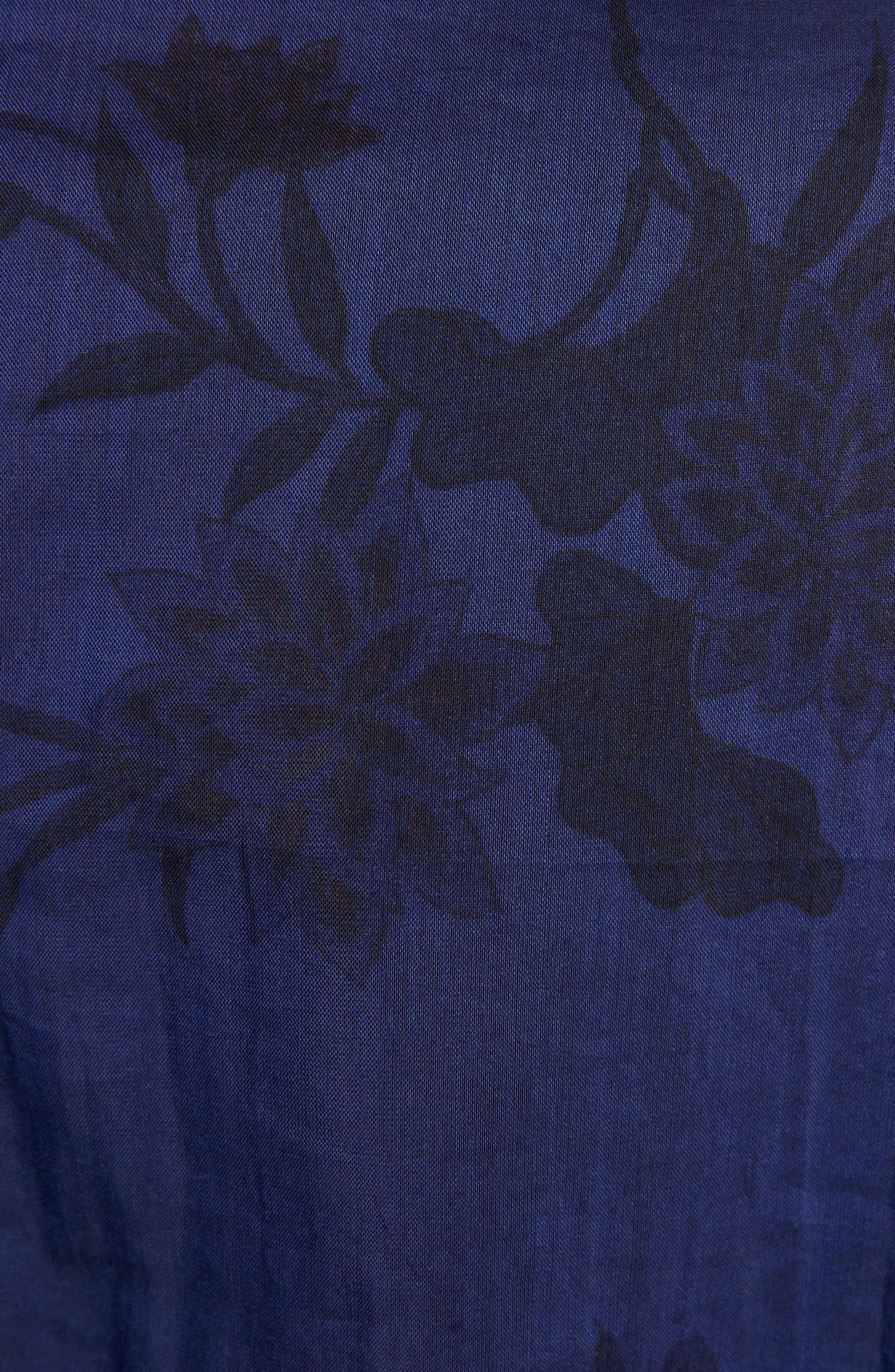 Floral Print Shirt,                             Alternate thumbnail 5, color,                             400
