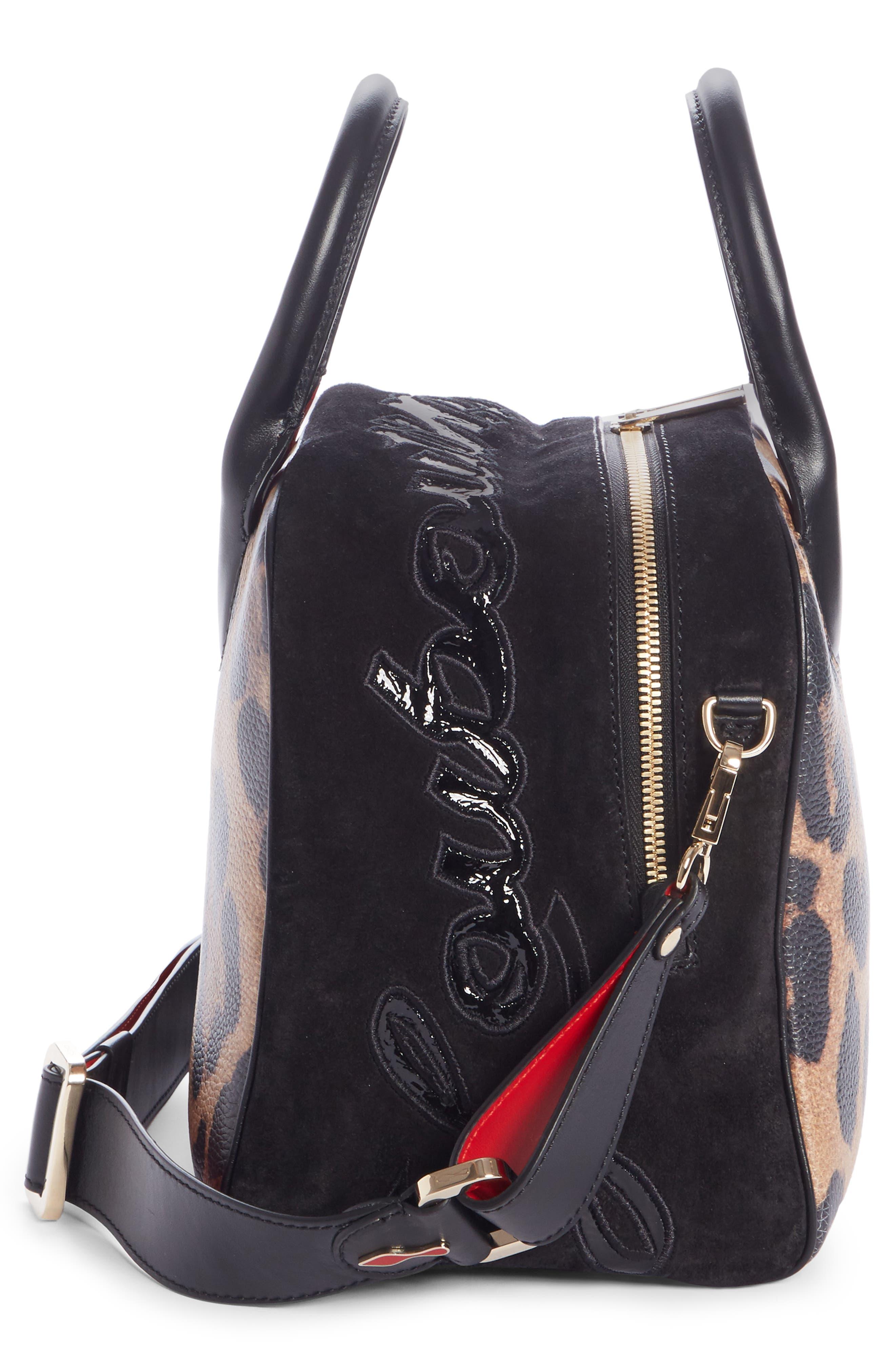 Marie Jane Small Leather & Suede Satchel,                             Alternate thumbnail 4, color,                             BROWN/ BLACK/ BLACK