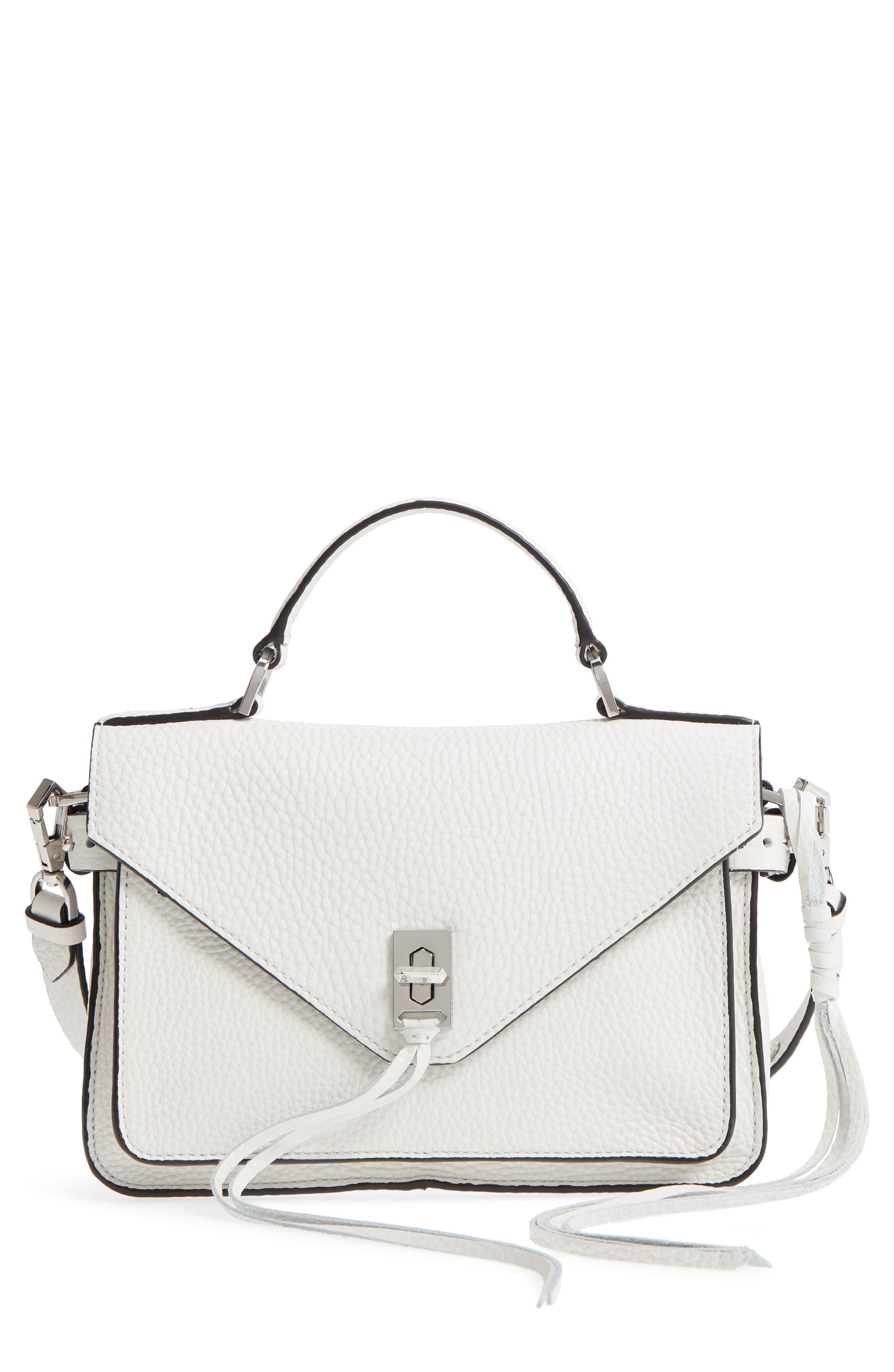 'Small Darren' Leather Messenger Bag,                             Main thumbnail 1, color,                             BLANCO