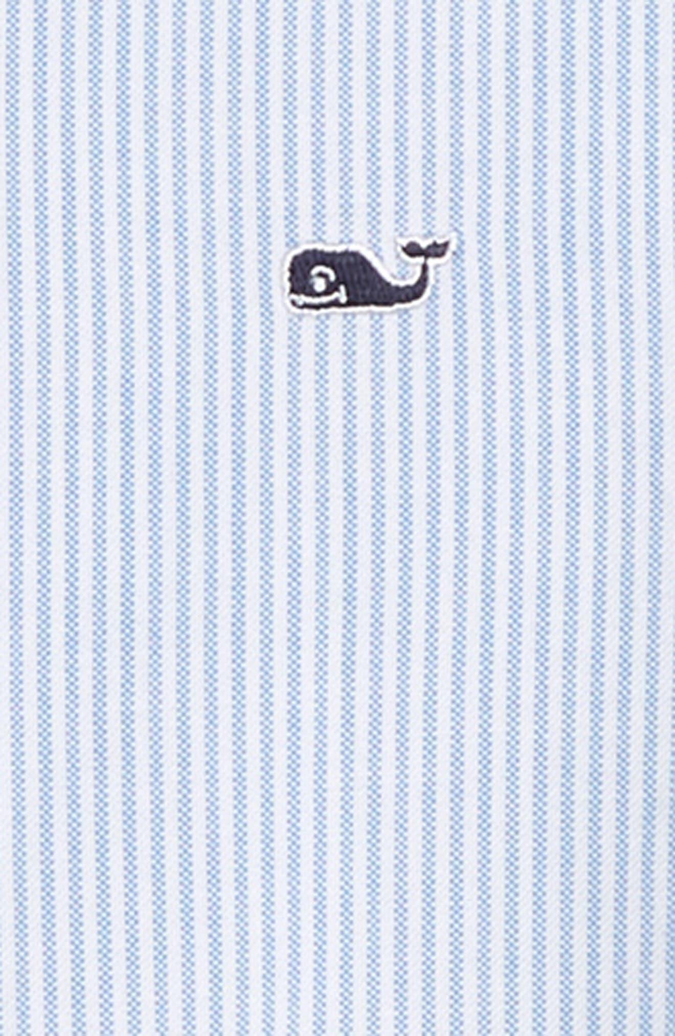 Fine Line Stripe Oxford Shirt,                             Alternate thumbnail 2, color,                             HYDRANGEA