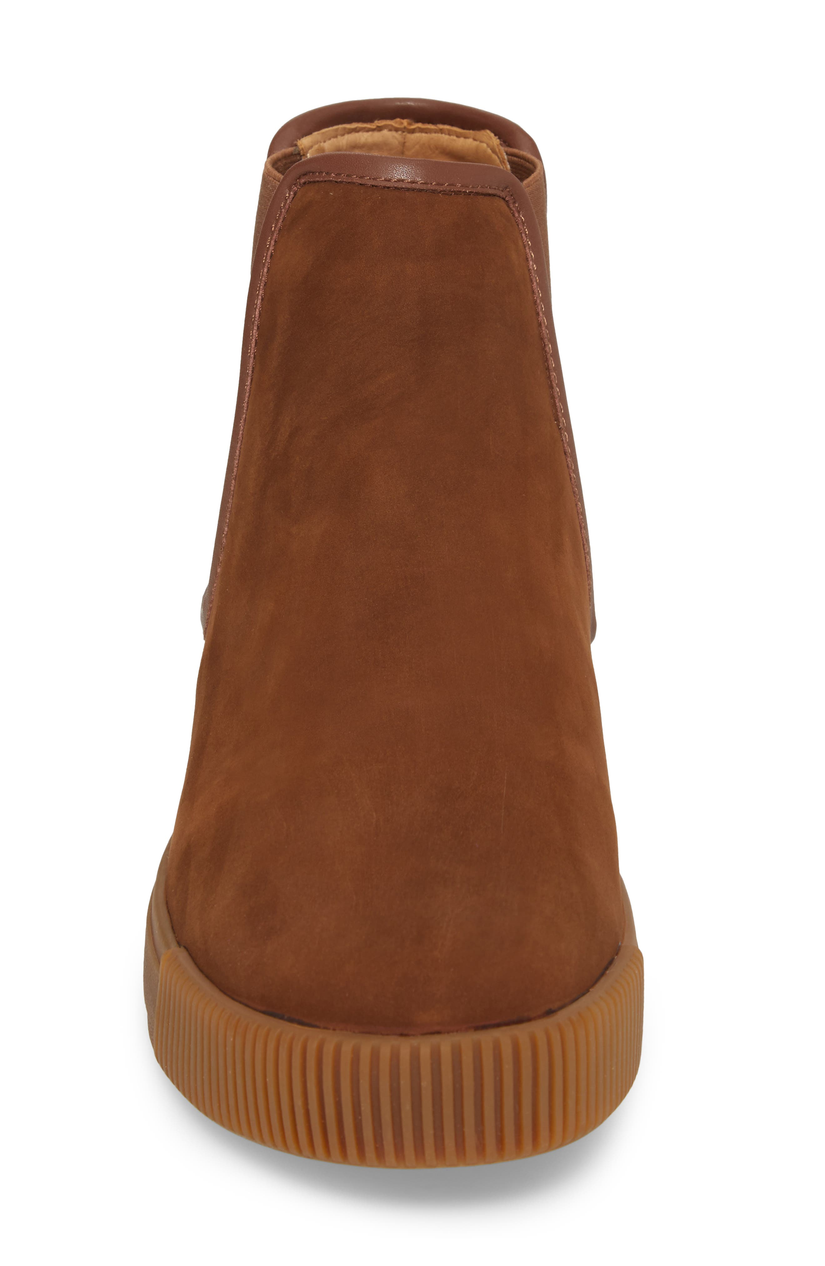 Lyons Chelsea Boot,                             Alternate thumbnail 4, color,                             CHOCOLATE SUEDE