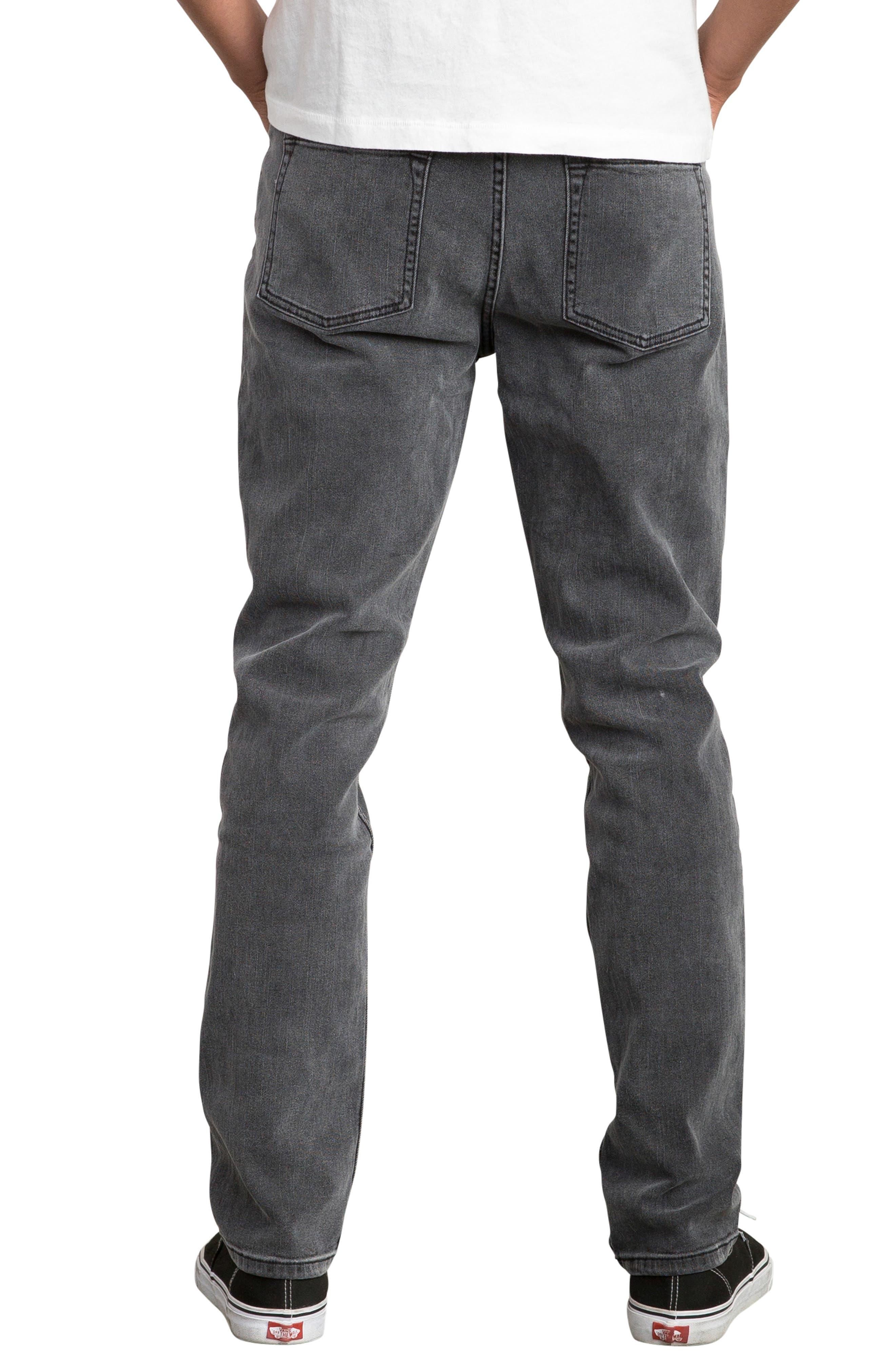 Daggers Slim Straight Leg Jeans,                             Alternate thumbnail 2, color,                             VINTAGE CHARCOAL
