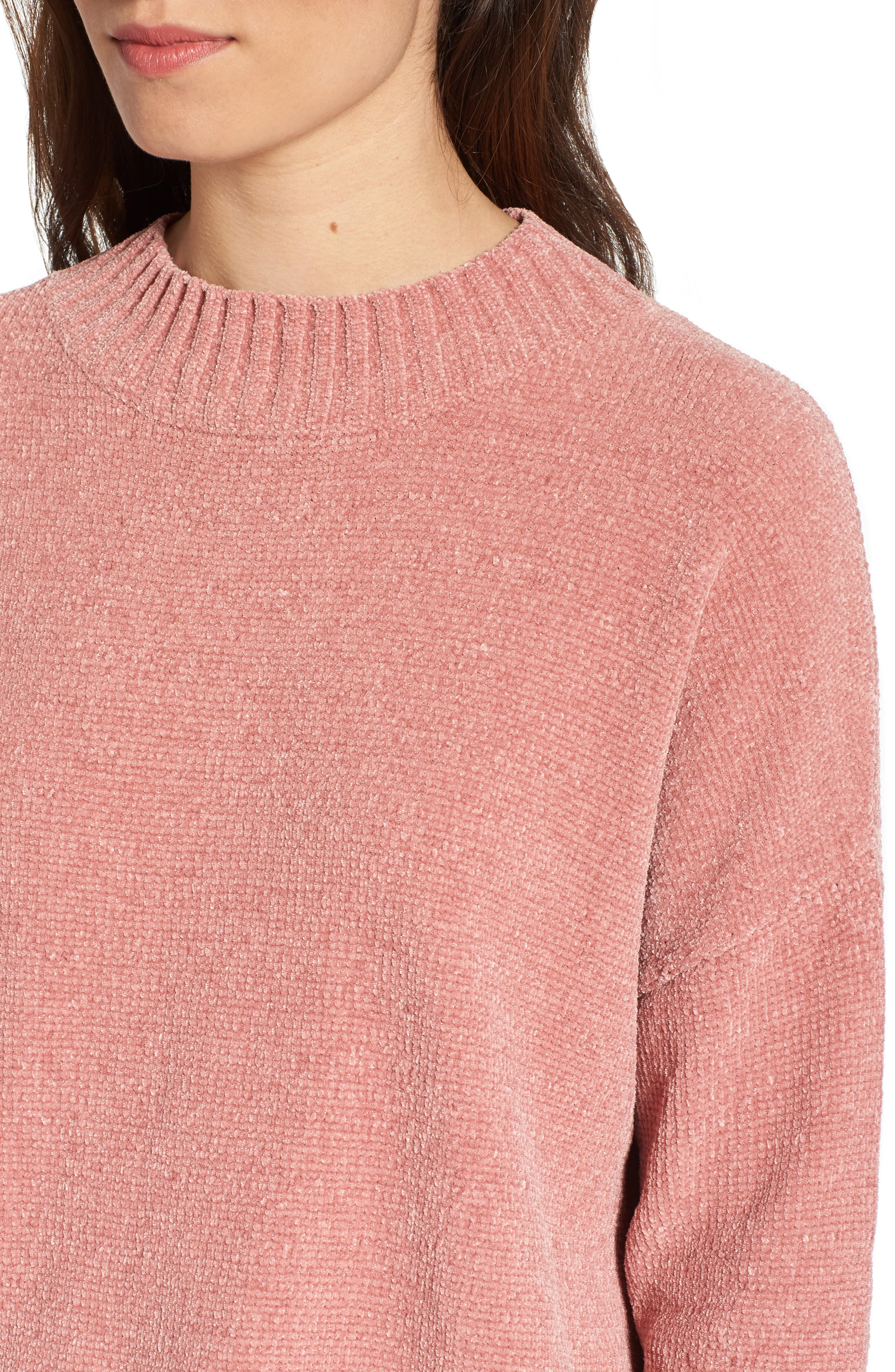 Chenille Funnel Neck Sweater,                             Alternate thumbnail 19, color,