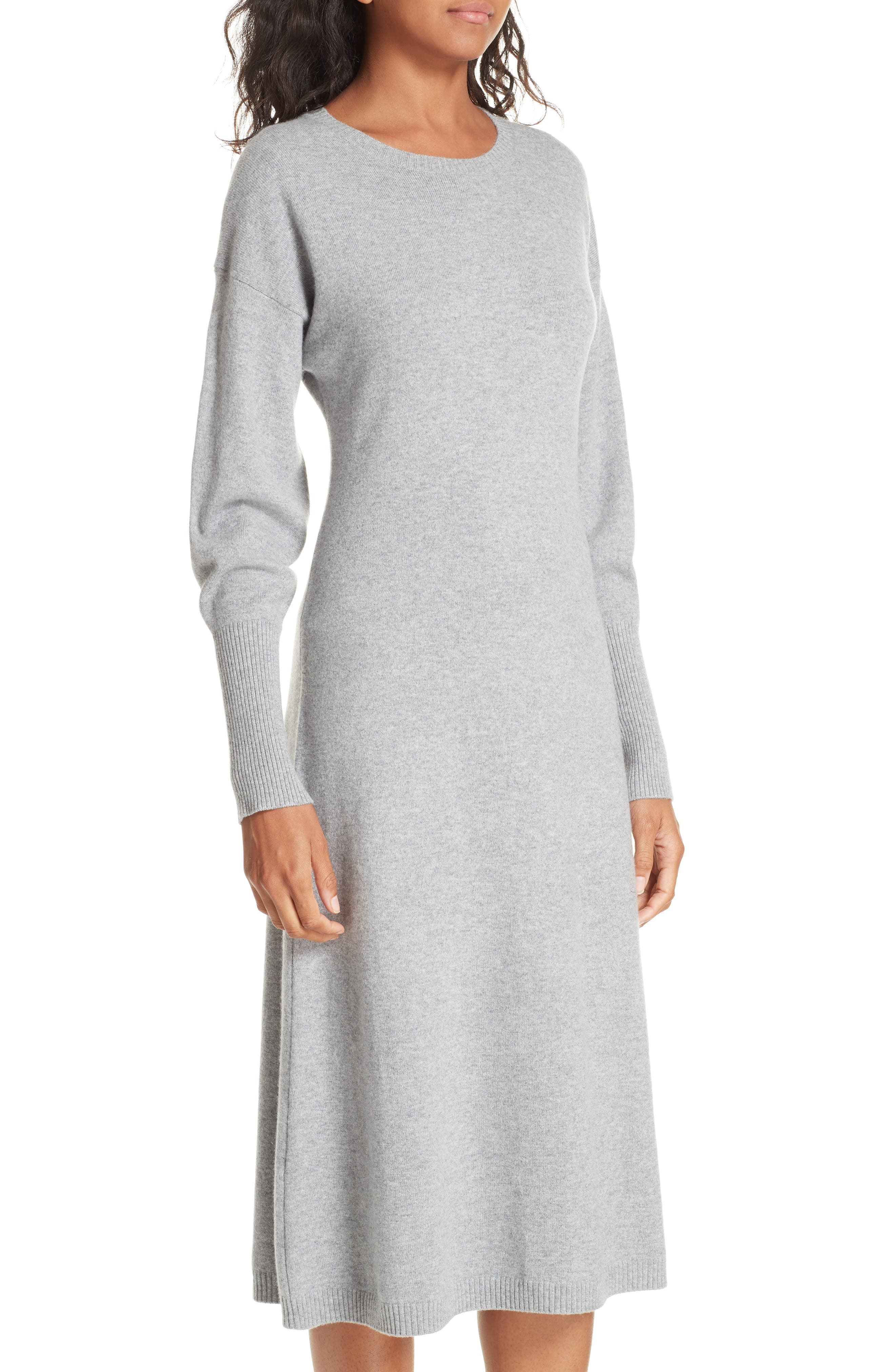 Cashmere Blend Sweater Dress,                             Alternate thumbnail 4, color,                             030