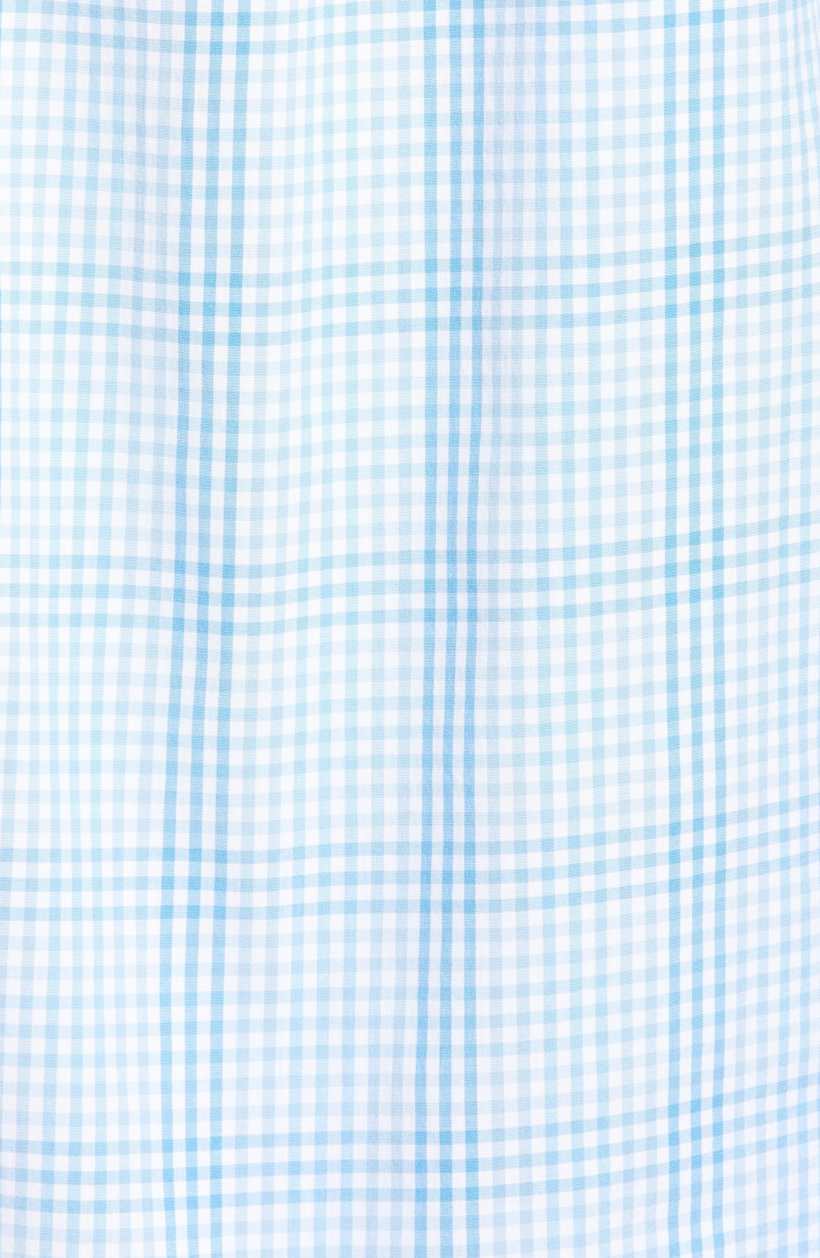Ridge Hill Classic Fit Check Sport Shirt,                             Alternate thumbnail 5, color,