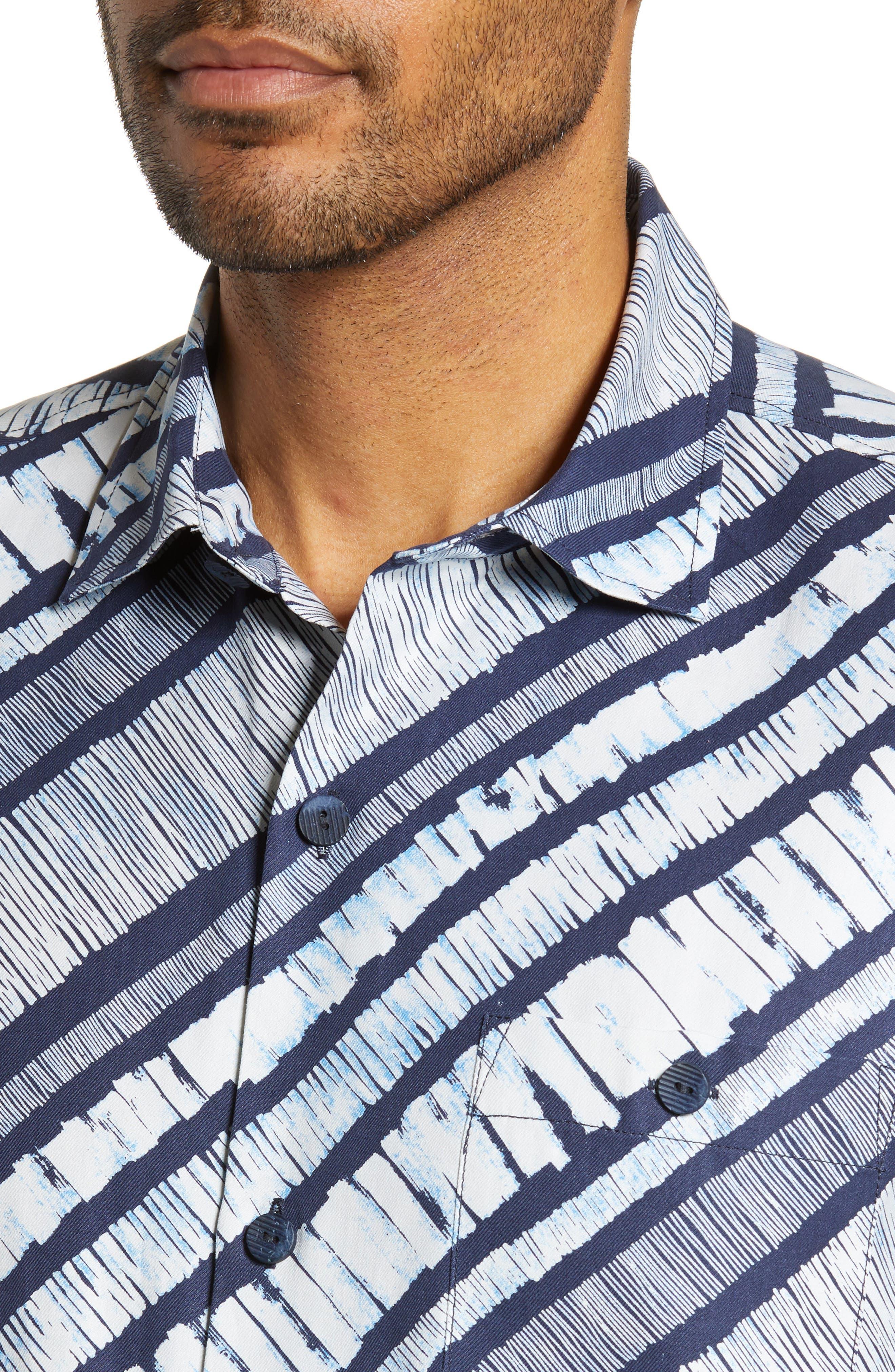 North Shore Winds Classic Fit Silk Camp Shirt,                             Alternate thumbnail 2, color,                             OCEAN DEEP