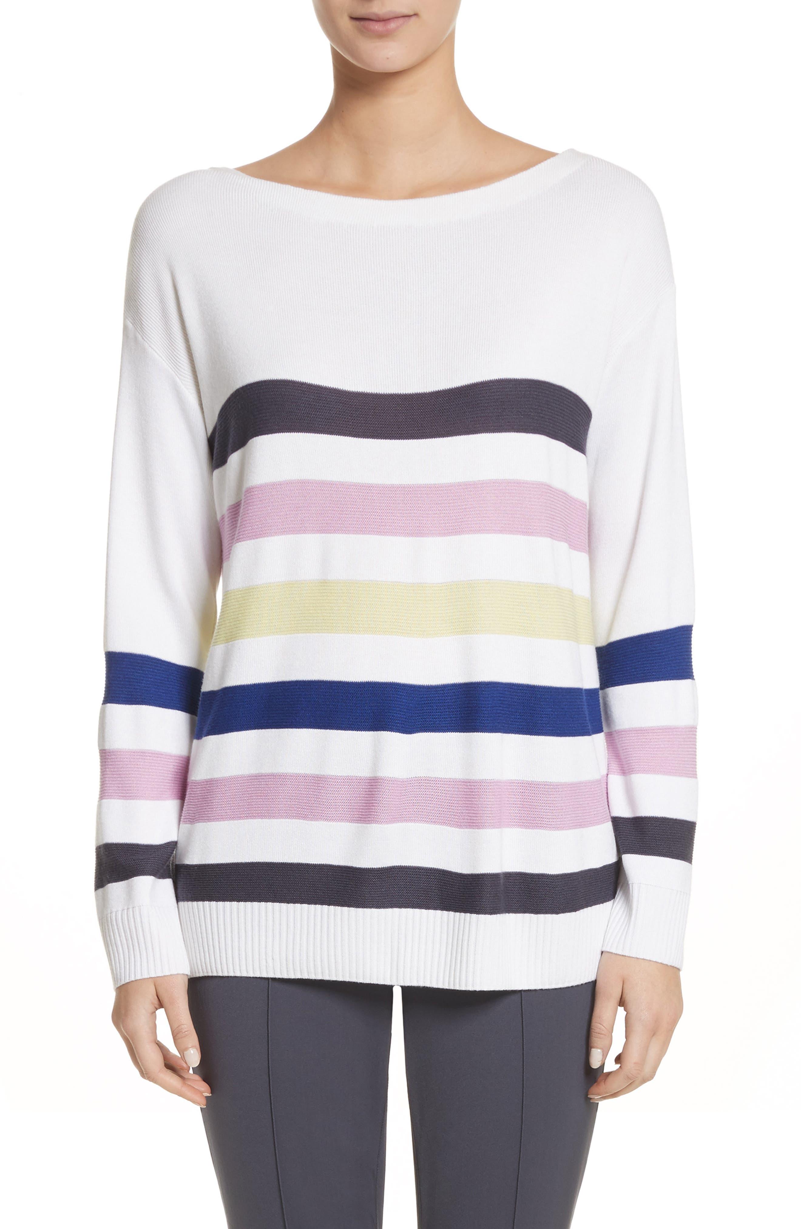 Links Stripe Knit Sweater,                             Main thumbnail 1, color,                             100