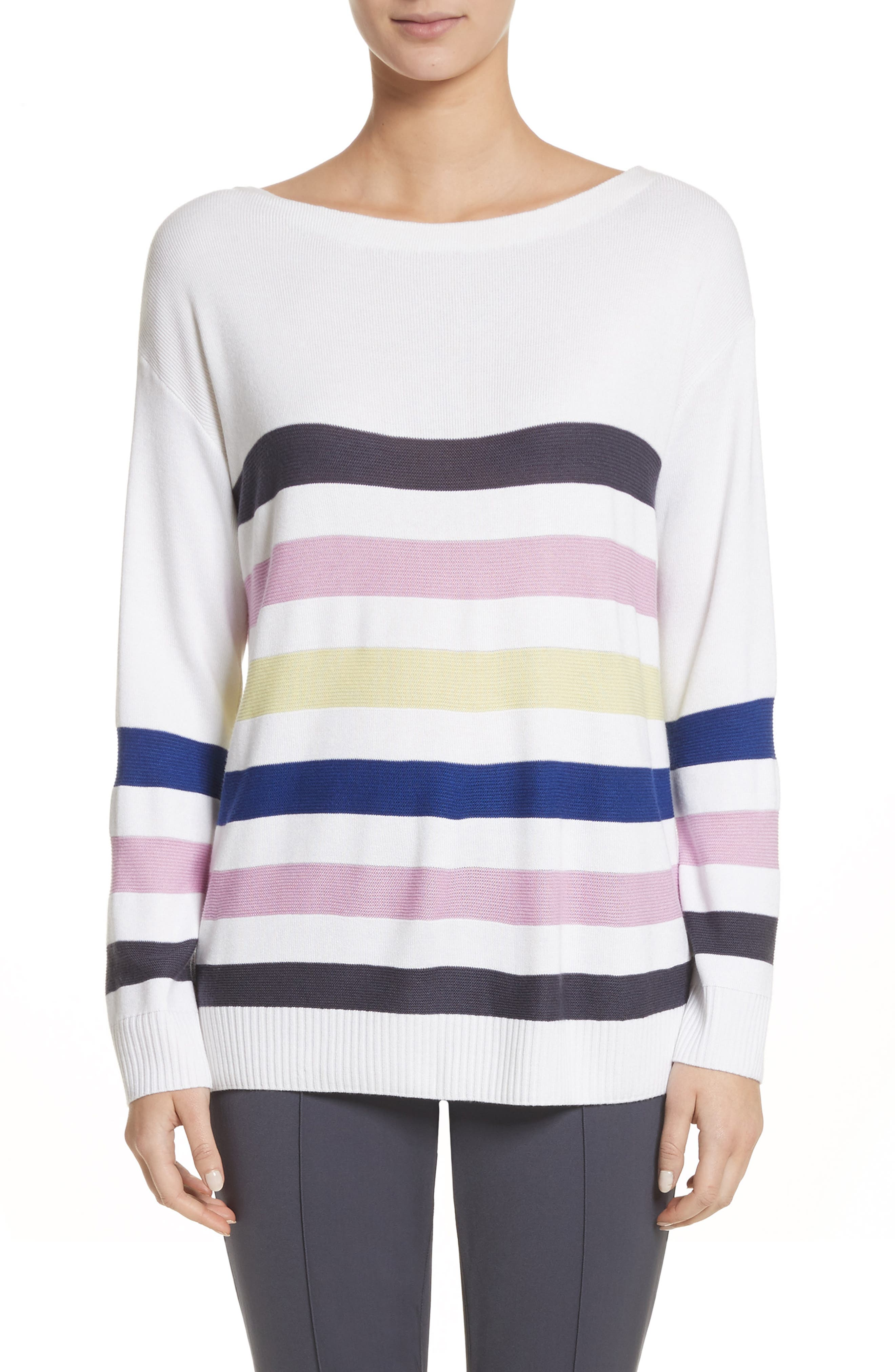 Links Stripe Knit Sweater,                         Main,                         color, 100