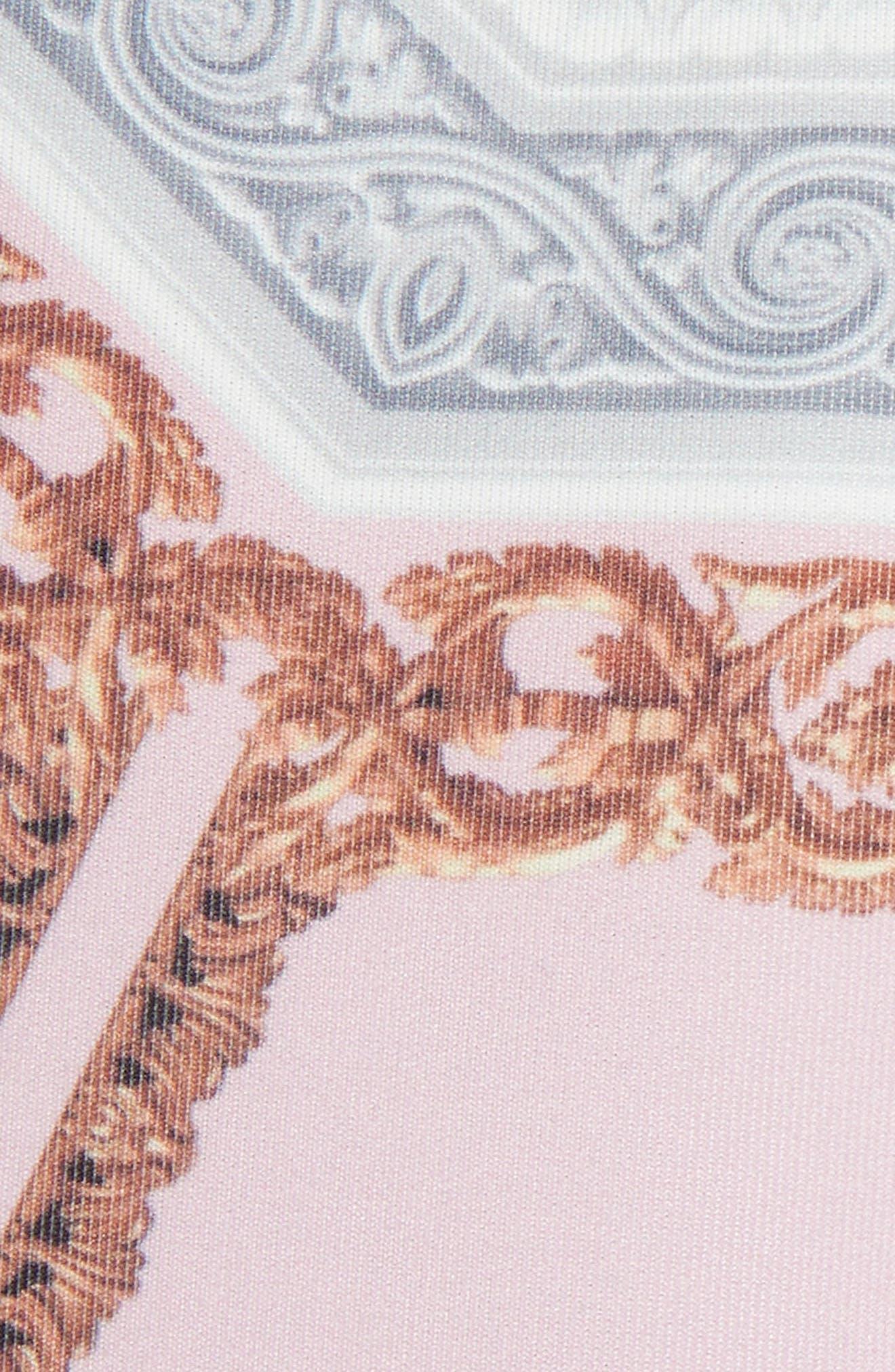 Norahe Versailles Cold Shoulder Dress,                             Alternate thumbnail 5, color,                             440