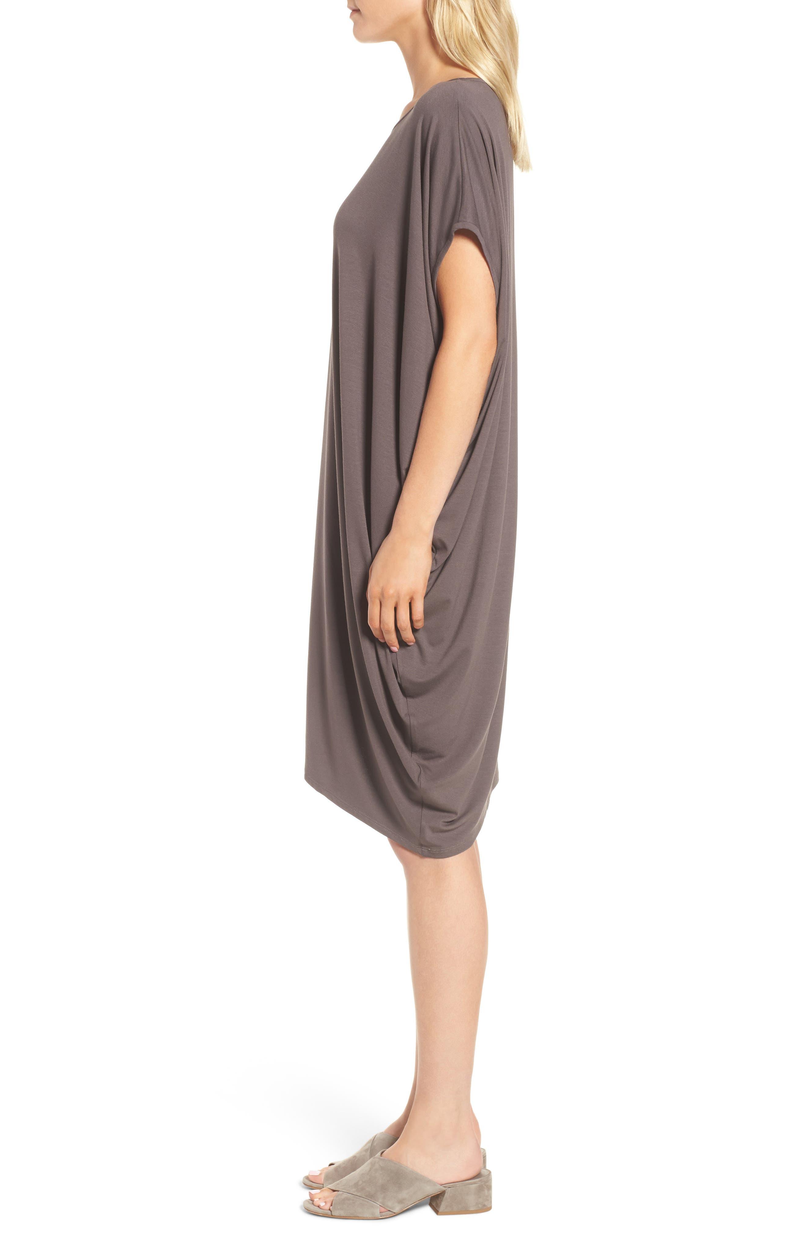 Asymmetrical Jersey Shift Dress,                             Alternate thumbnail 10, color,