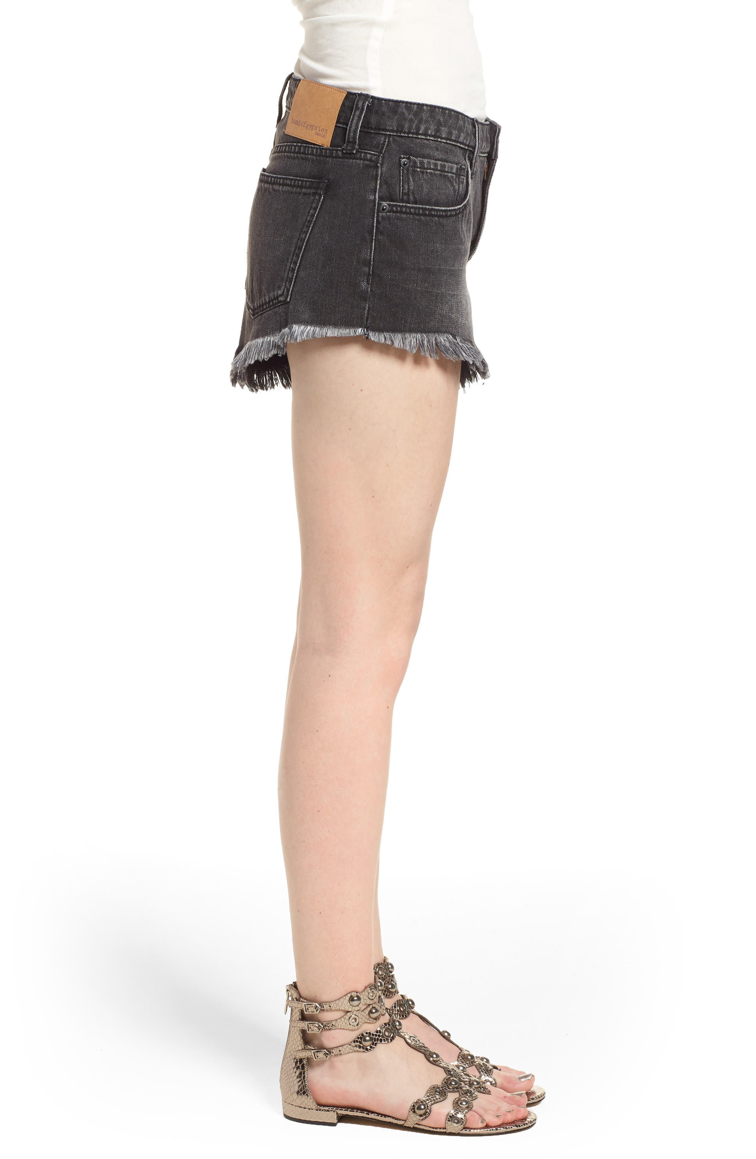 Riley Denim Shorts,                             Alternate thumbnail 3, color,