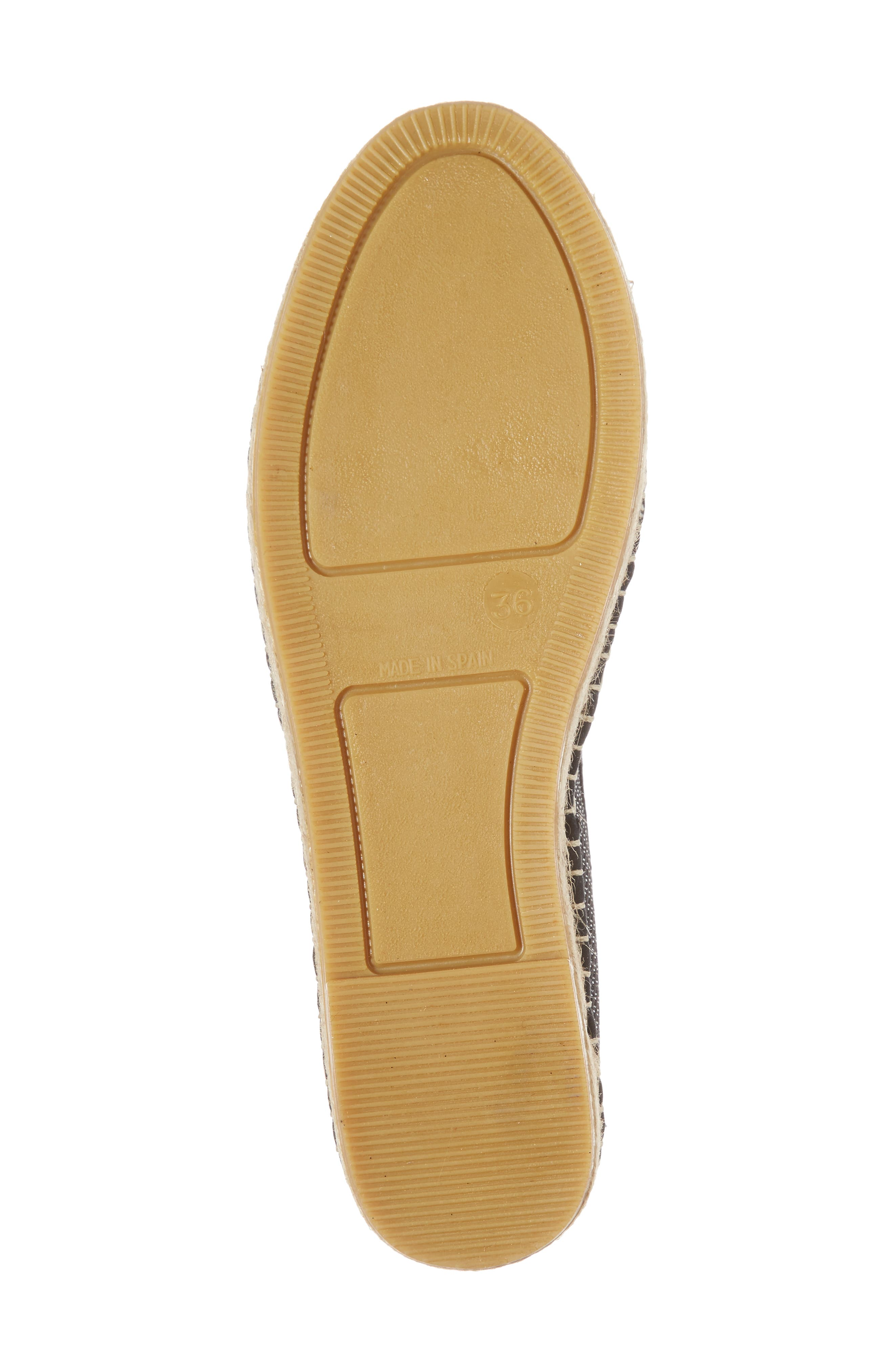 Fonda Platform Espadrille Sneaker,                             Alternate thumbnail 6, color,                             BLACK FABRIC