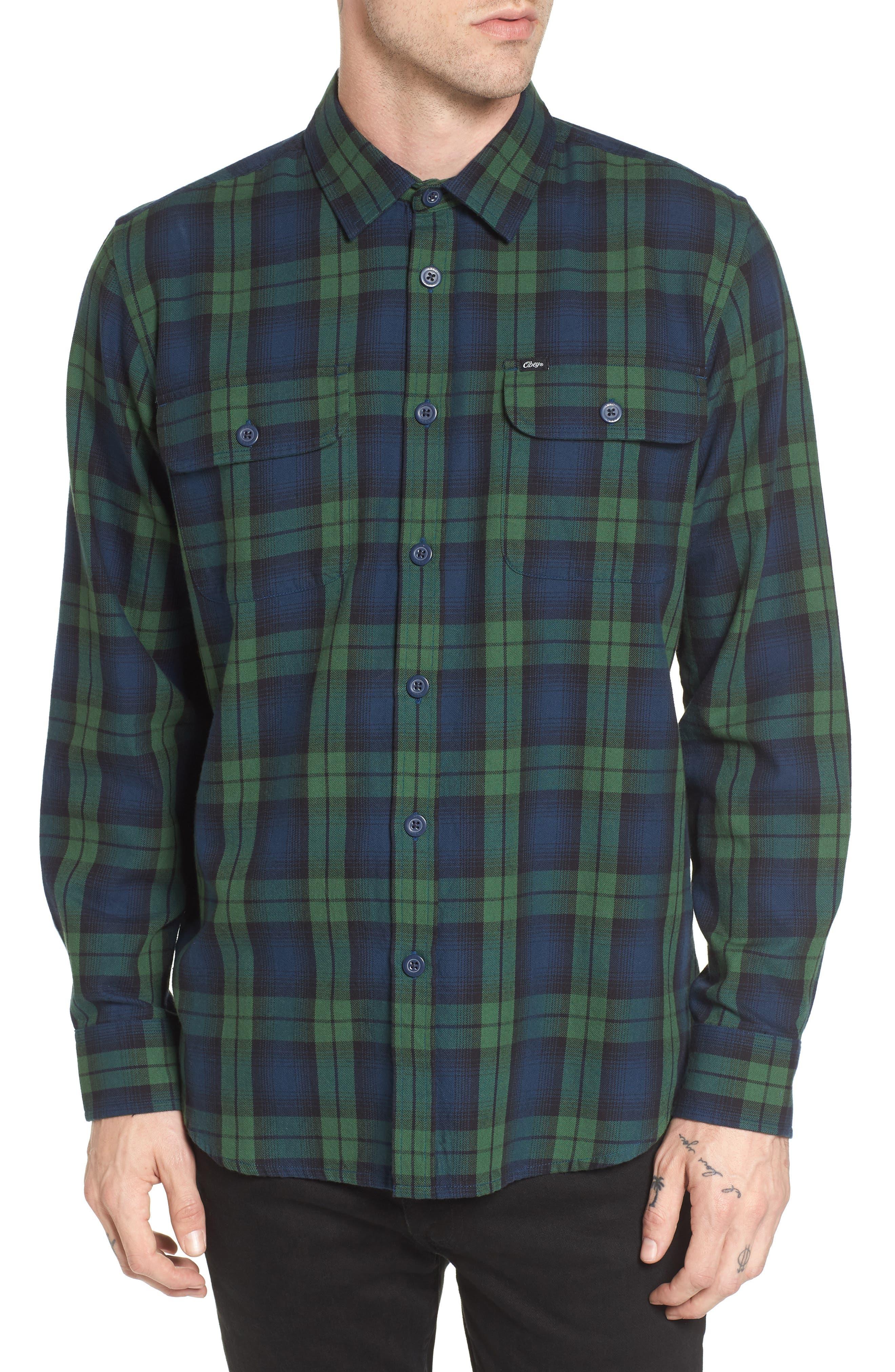 Norwich Plaid Woven Shirt,                         Main,                         color, 303