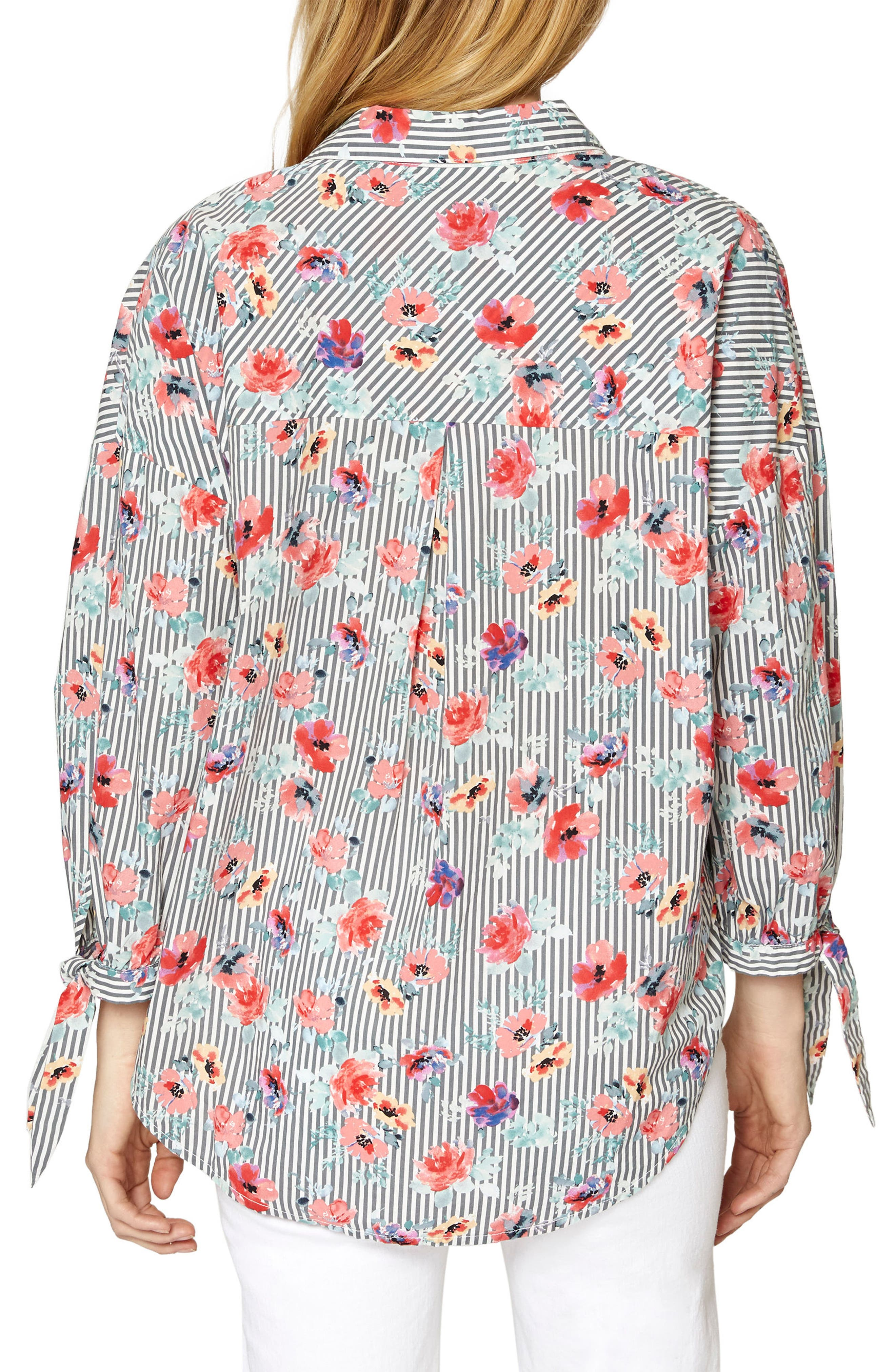 Birch Tie Cuff Shirt,                             Alternate thumbnail 2, color,