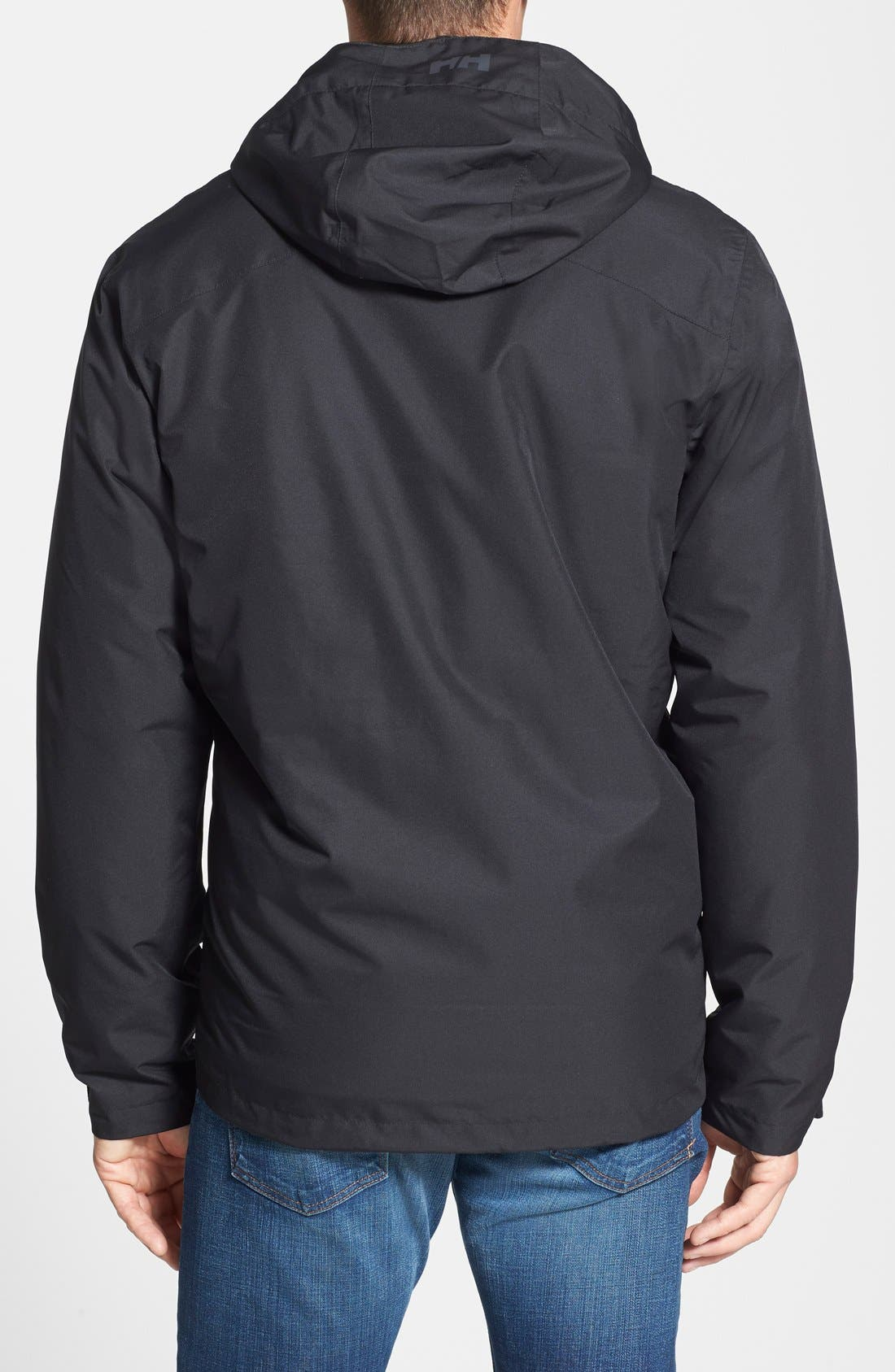 Squamish 3-in-1 Water Repellent Hooded Jacket,                             Alternate thumbnail 2, color,                             BLACK