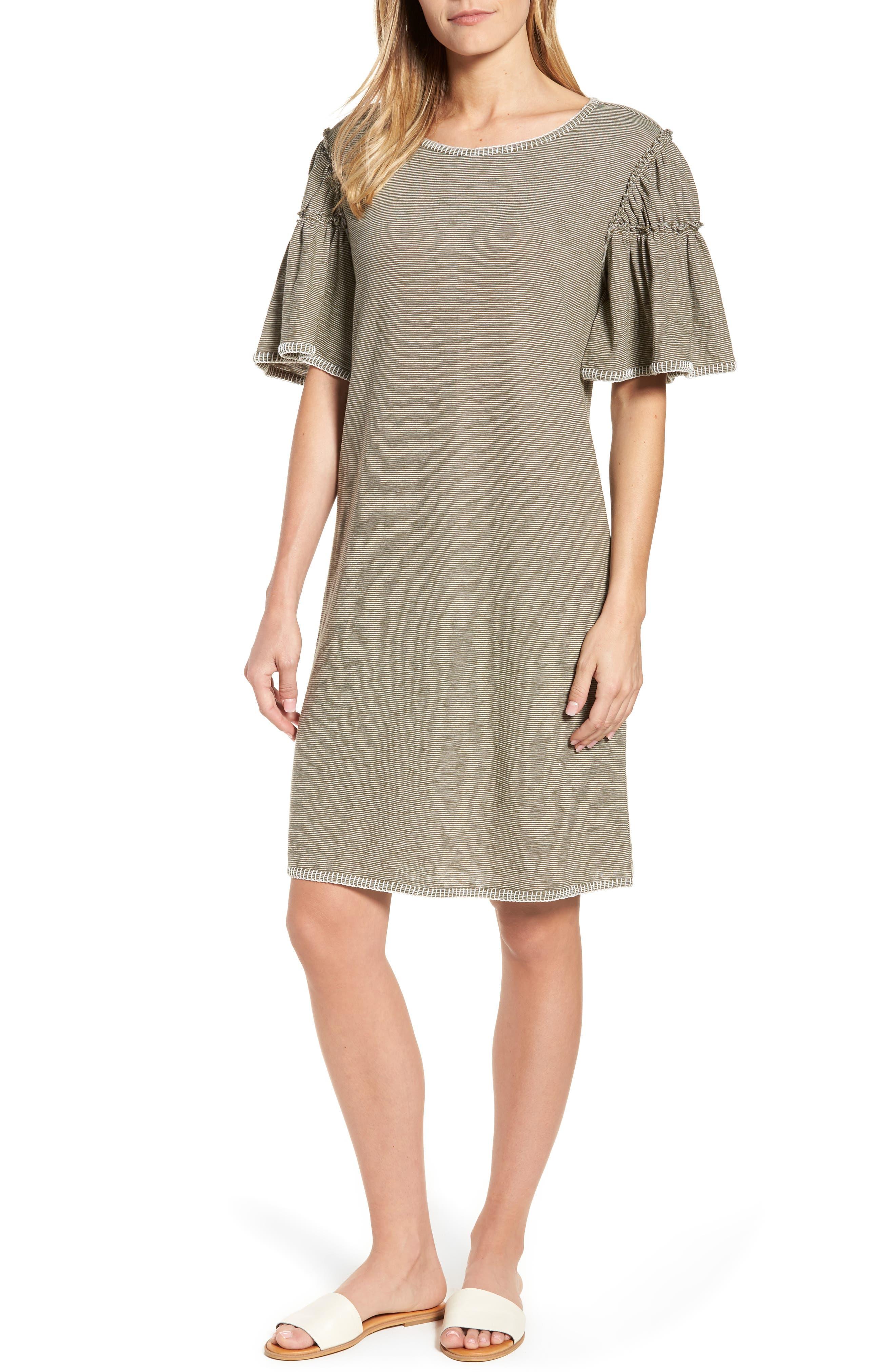 Flounce Sleeve Knit Dress,                             Main thumbnail 2, color,