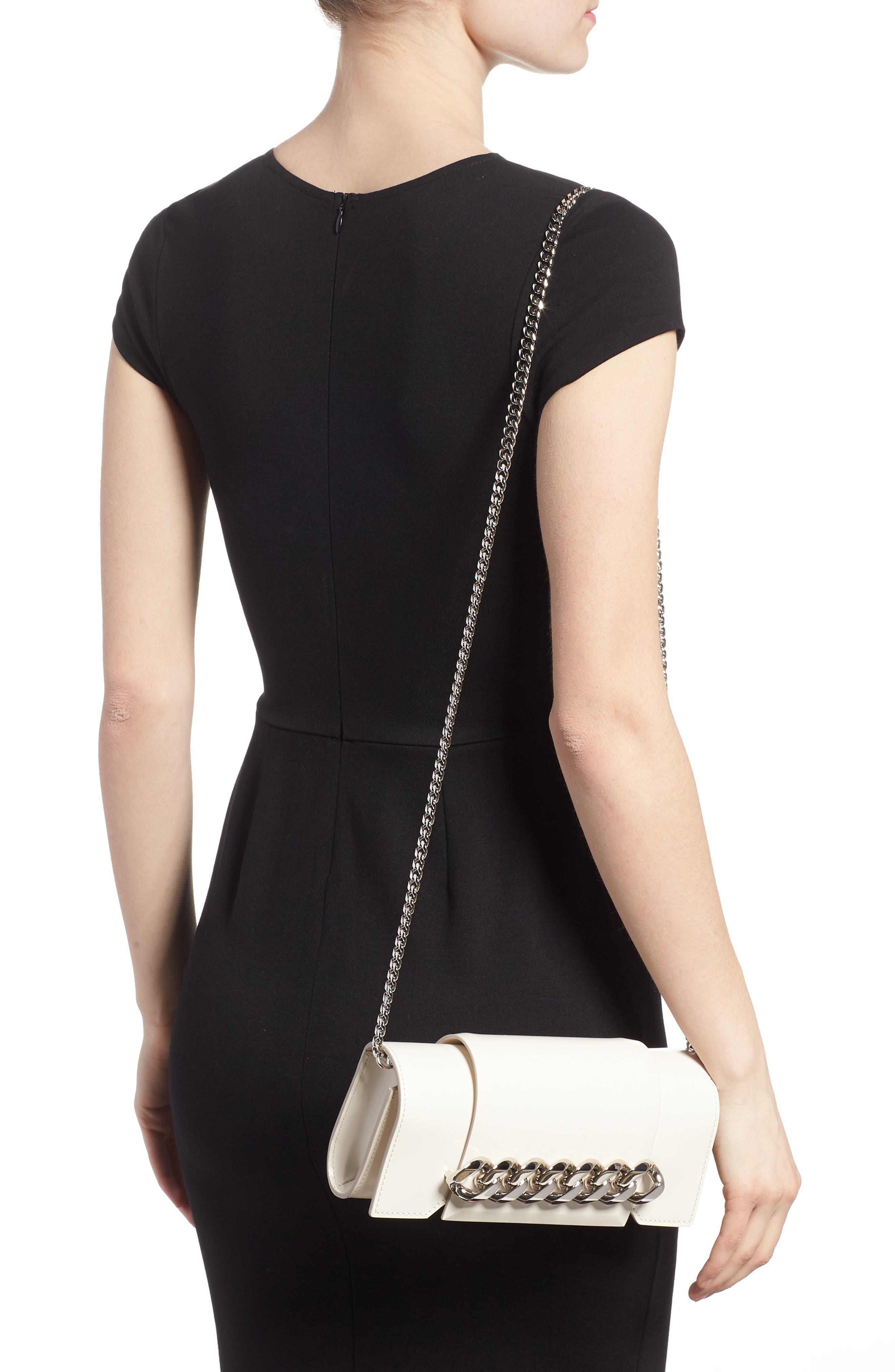 Mini Infinity Calfskin Leather Shoulder/Crossbody Bag,                             Alternate thumbnail 4, color,