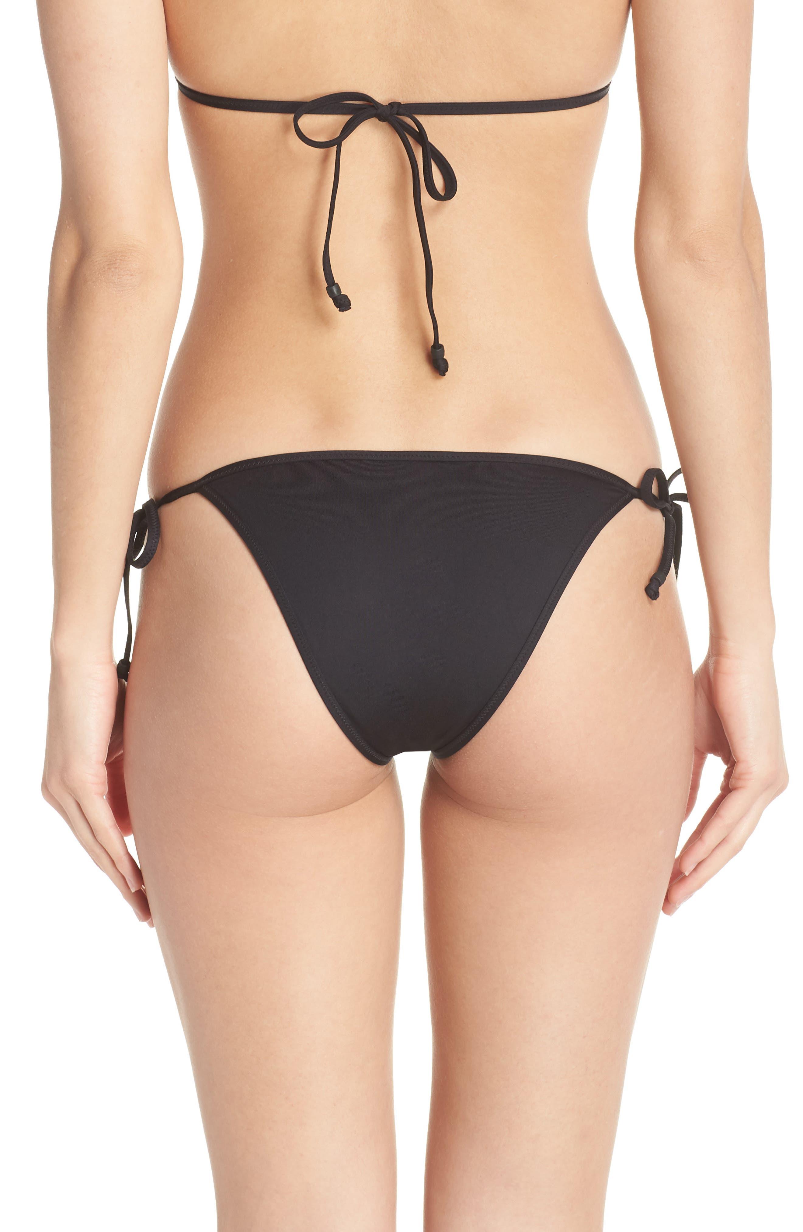 Playa Miami String Bikini Bottoms,                             Alternate thumbnail 2, color,                             001