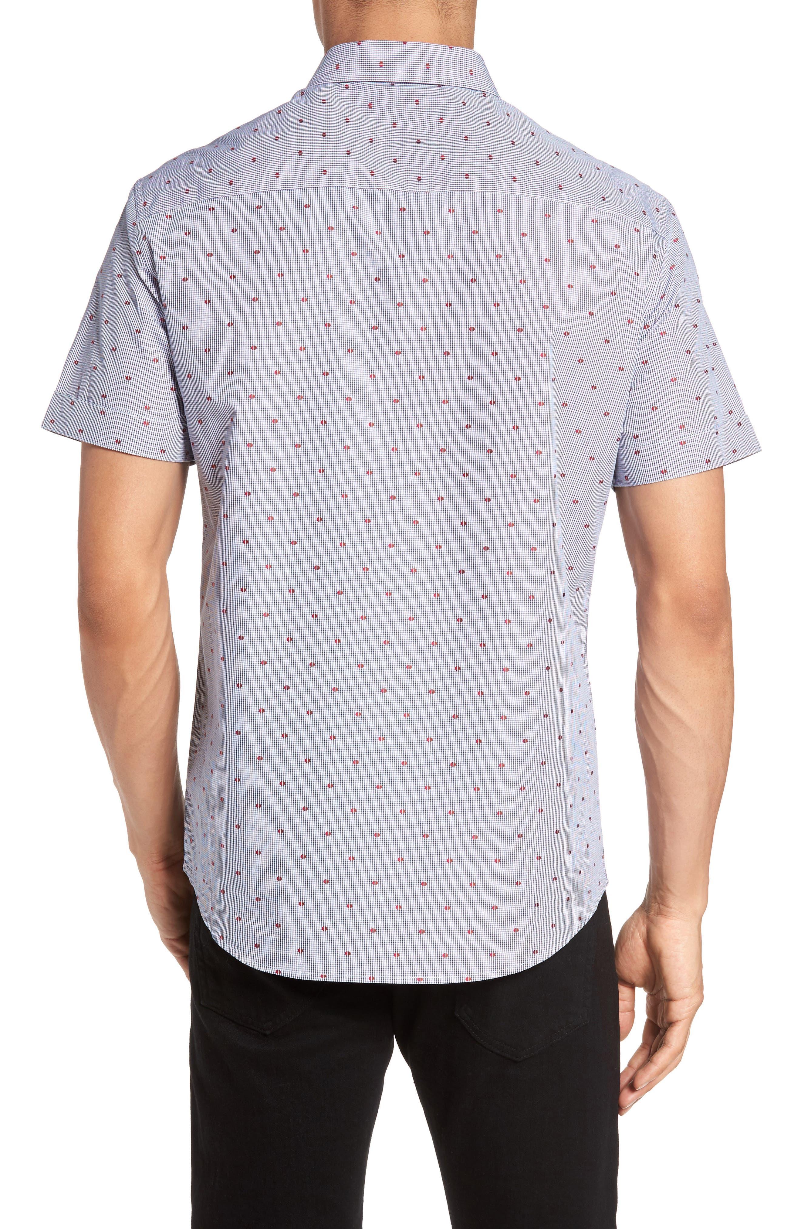 Short Sleeve Sport Shirt,                             Alternate thumbnail 3, color,                             230