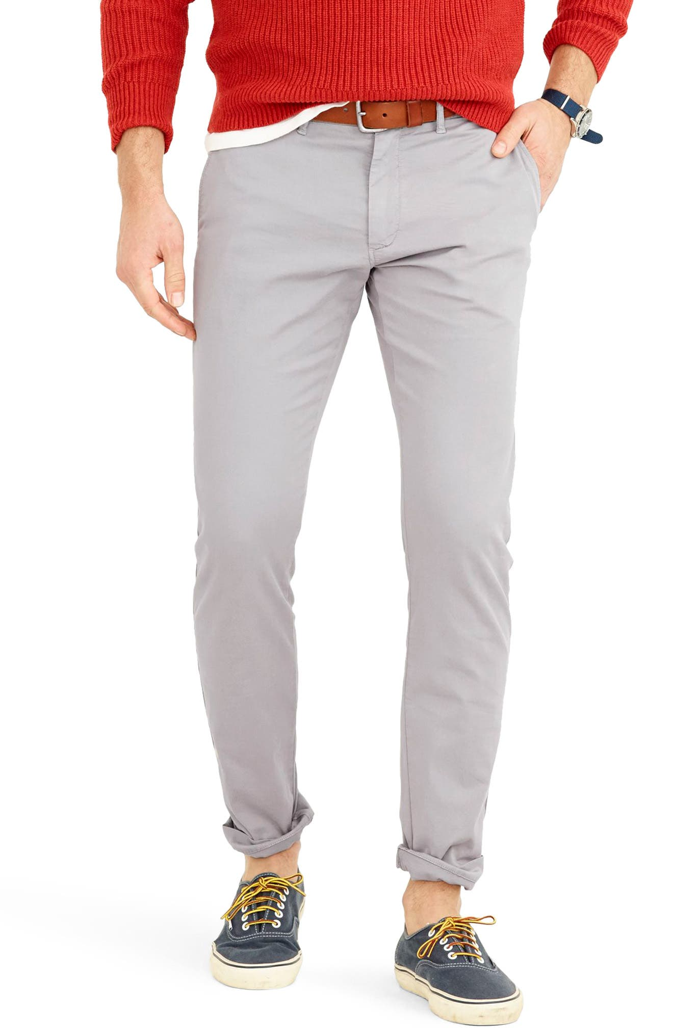 Slim Fit Garment Dyed Stretch Chinos,                             Main thumbnail 1, color,