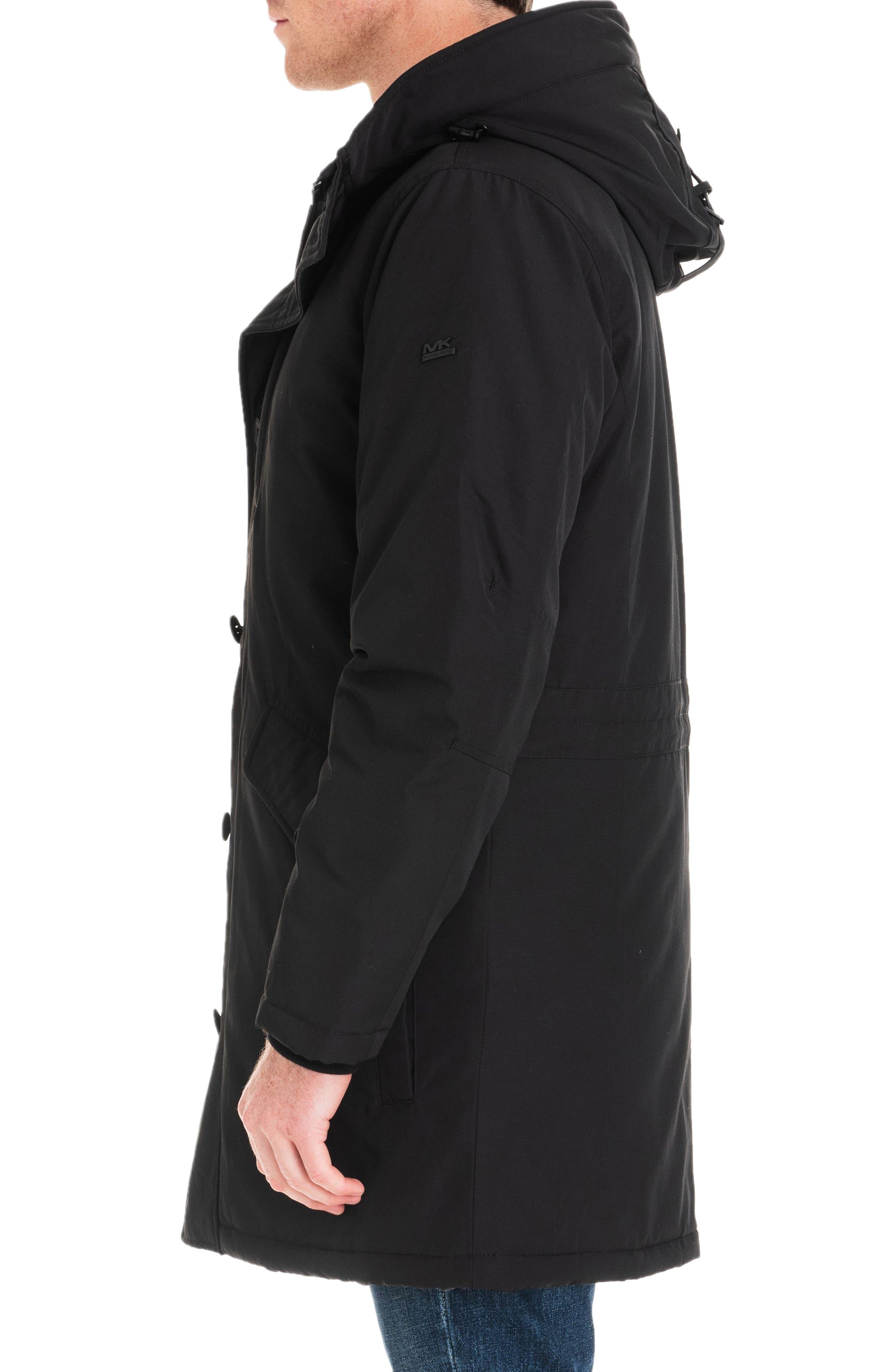 Gardiner Water Resistant Snorkel Coat,                             Alternate thumbnail 3, color,                             BLACK/ MIDNIGHT