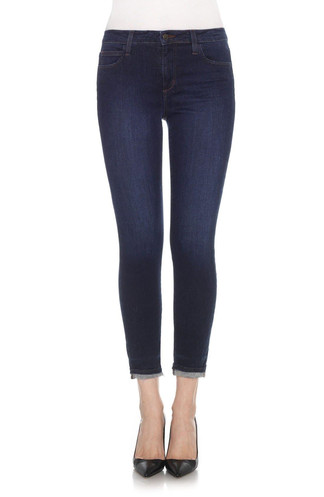 Flawless - Markie Crop Skinny Jeans,                             Alternate thumbnail 7, color,                             400